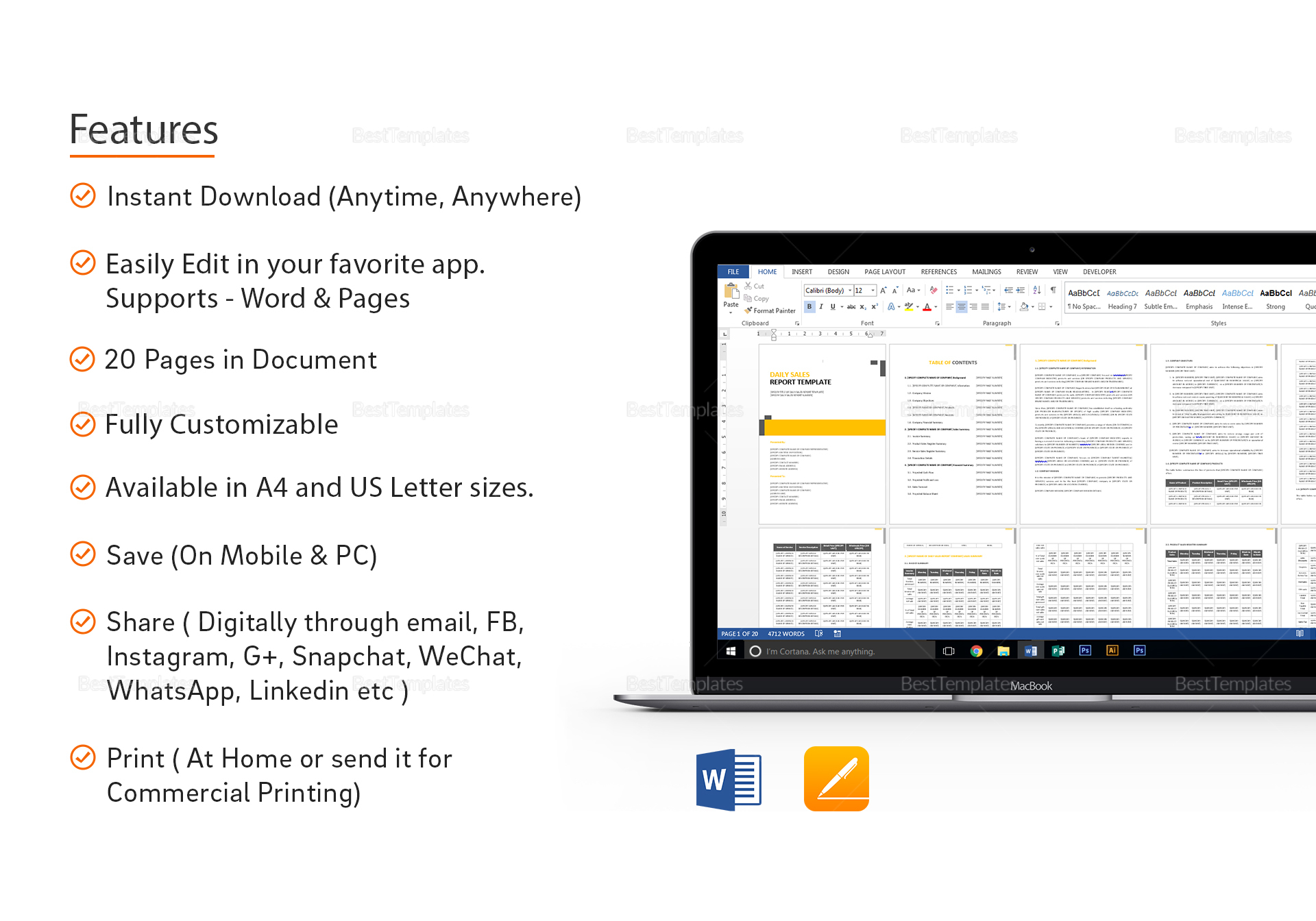 sales report template