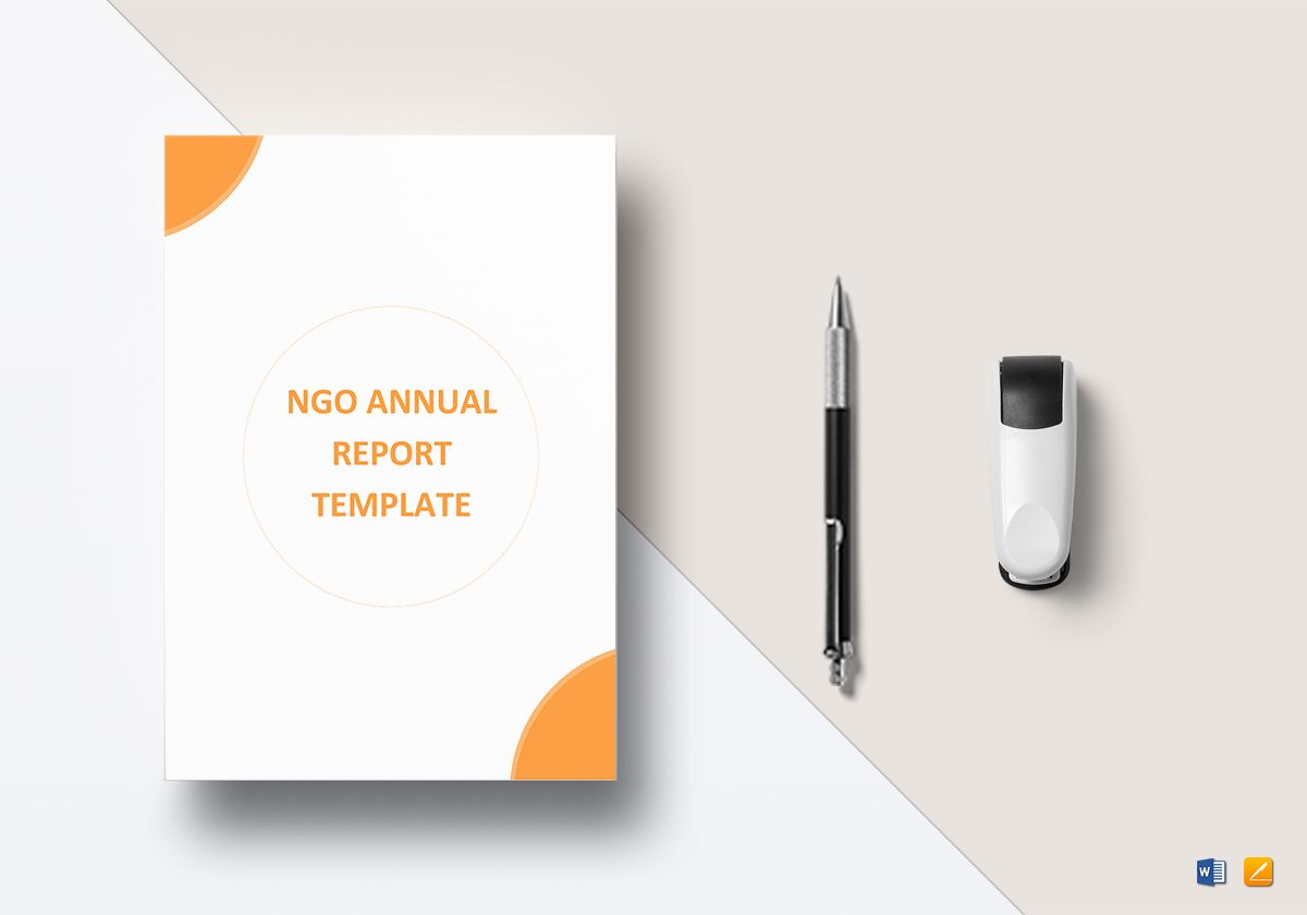 NGO Annual Report Template in Word, Google Docs, Apple Pages