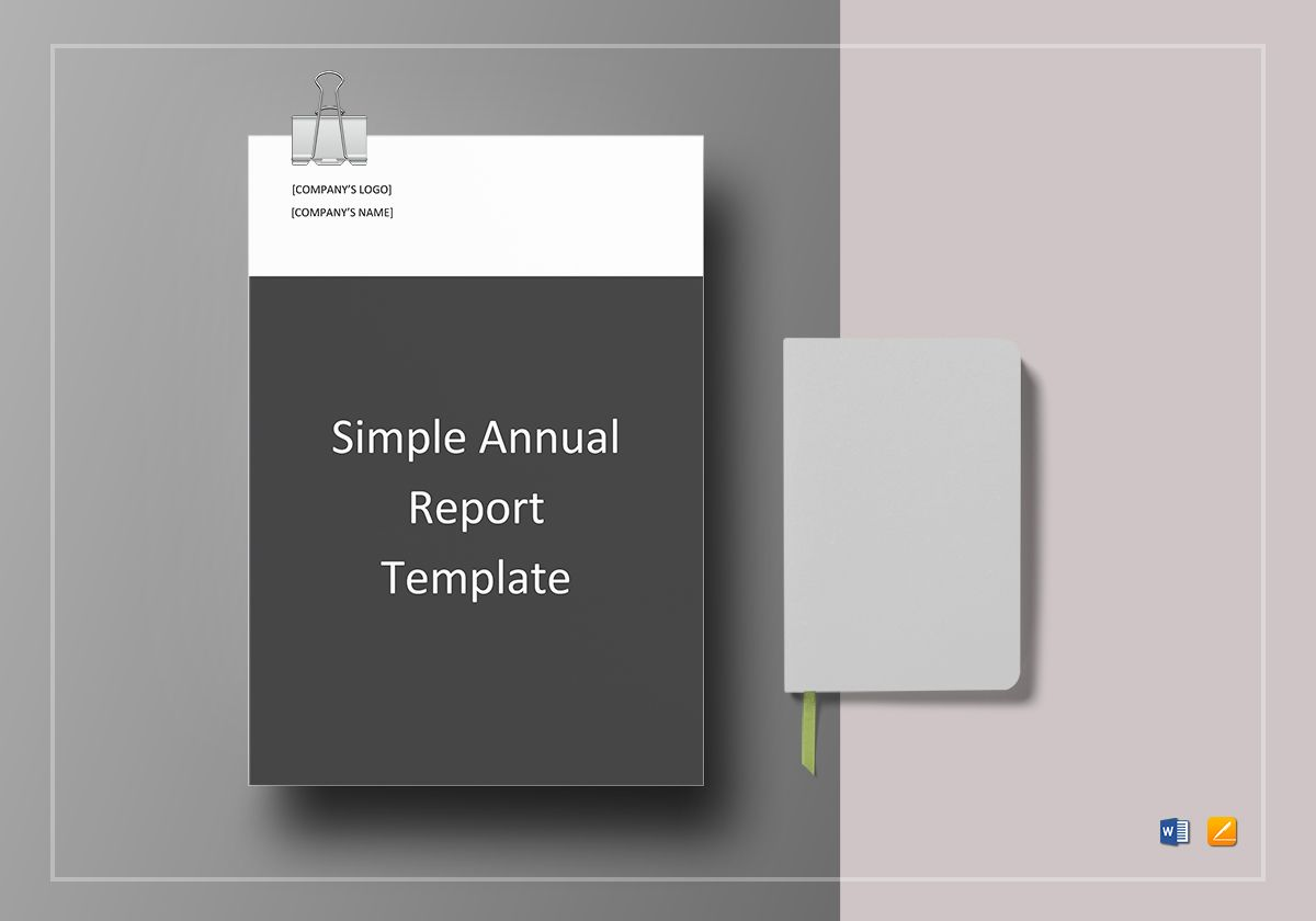 simple annual report template in word google docs apple pages