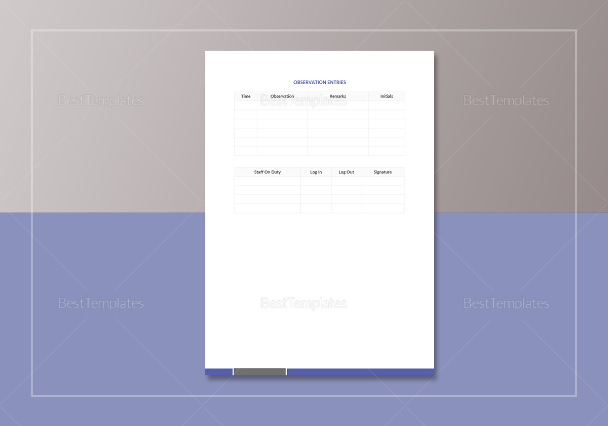 Simple School Incident Report Template