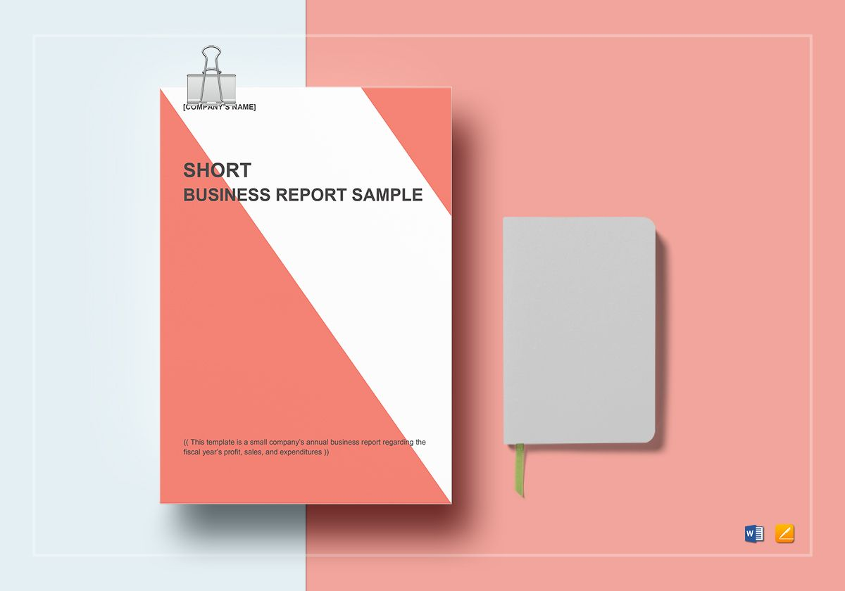 Short business report template in word google docs apple pages sample short business report template accmission Image collections