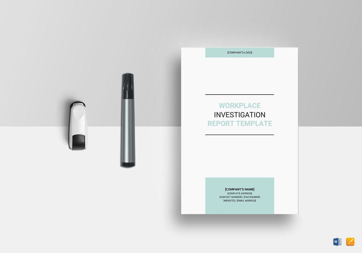 Workplace Investigation Report Template In Word Google Docs Le Pages