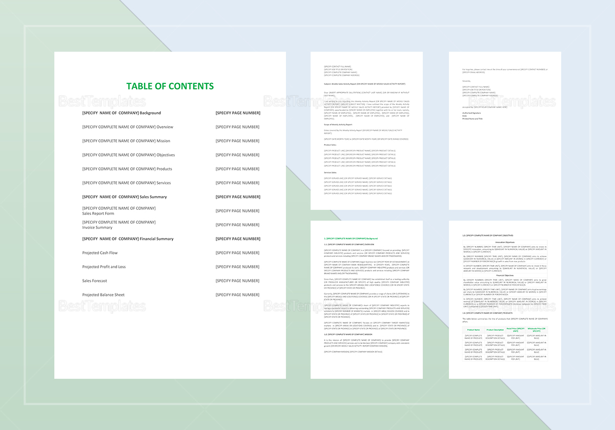 sales activity template