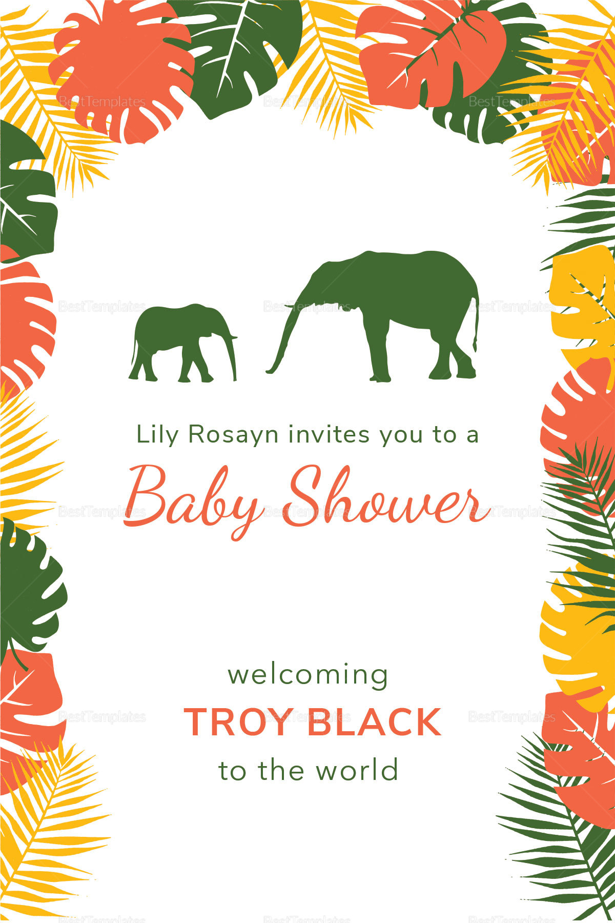 Zoo baby shower invitation design template in psd word publisher zoo baby shower invitation template zoo baby shower invitation template stopboris Choice Image