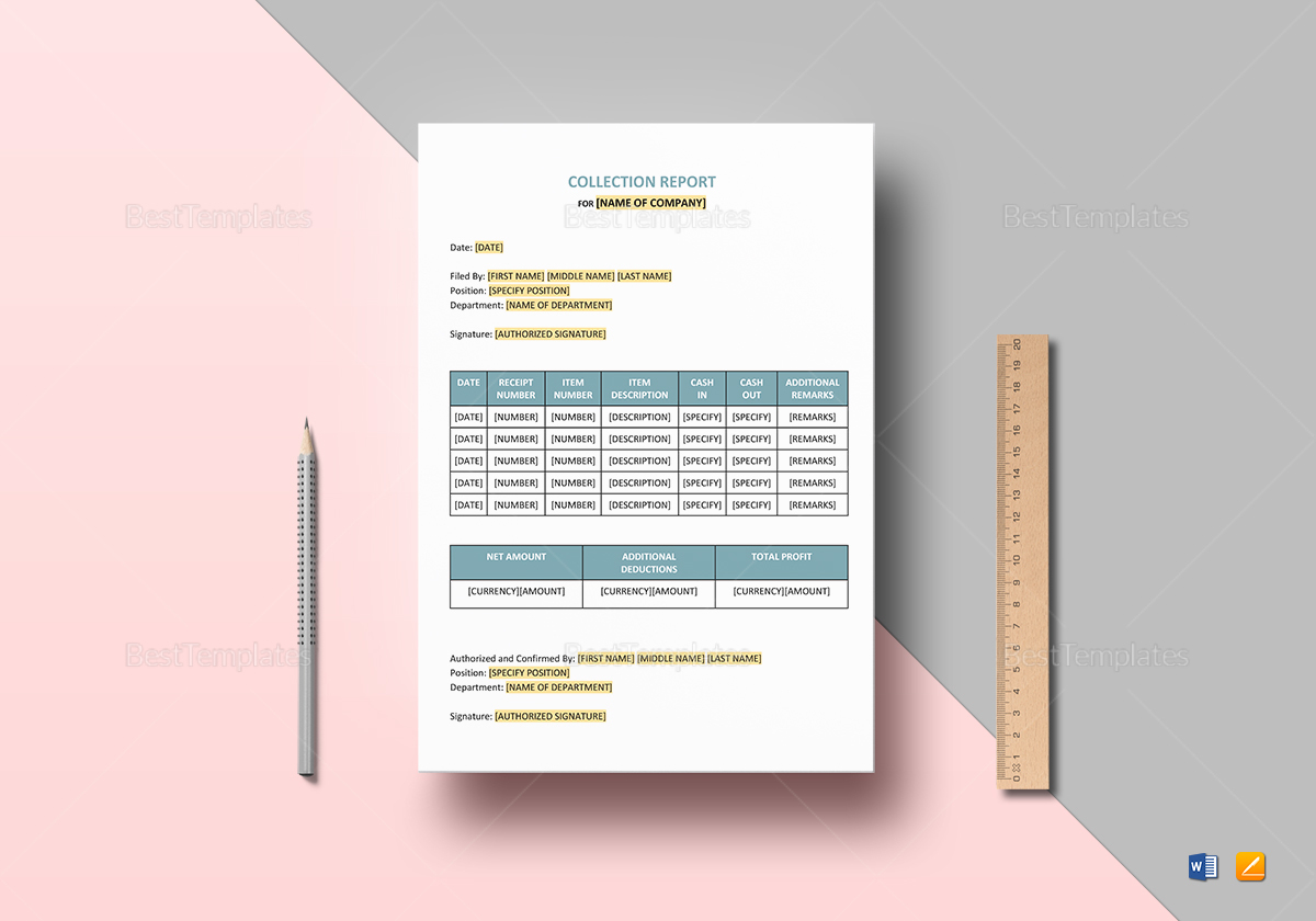Collection Report Template to Edit