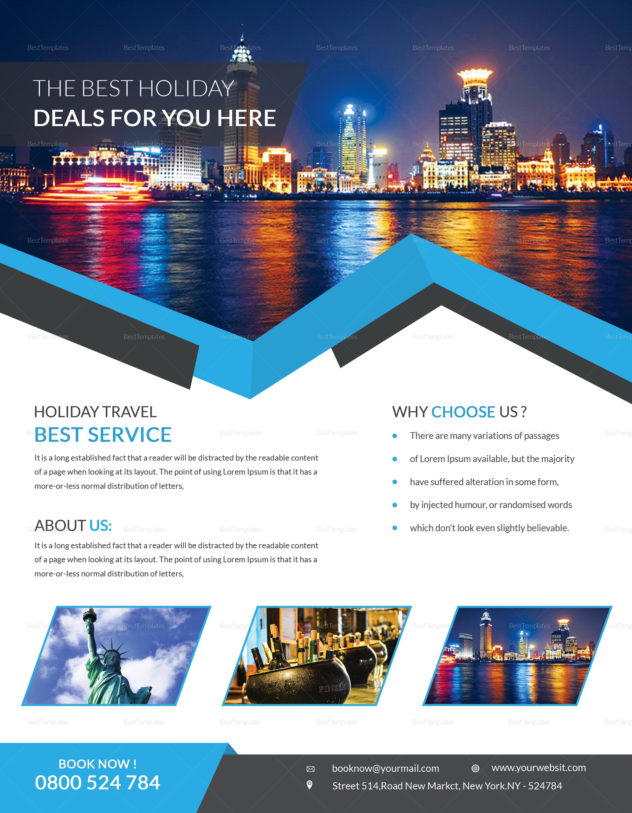 Clean Travel Flyer Design Template