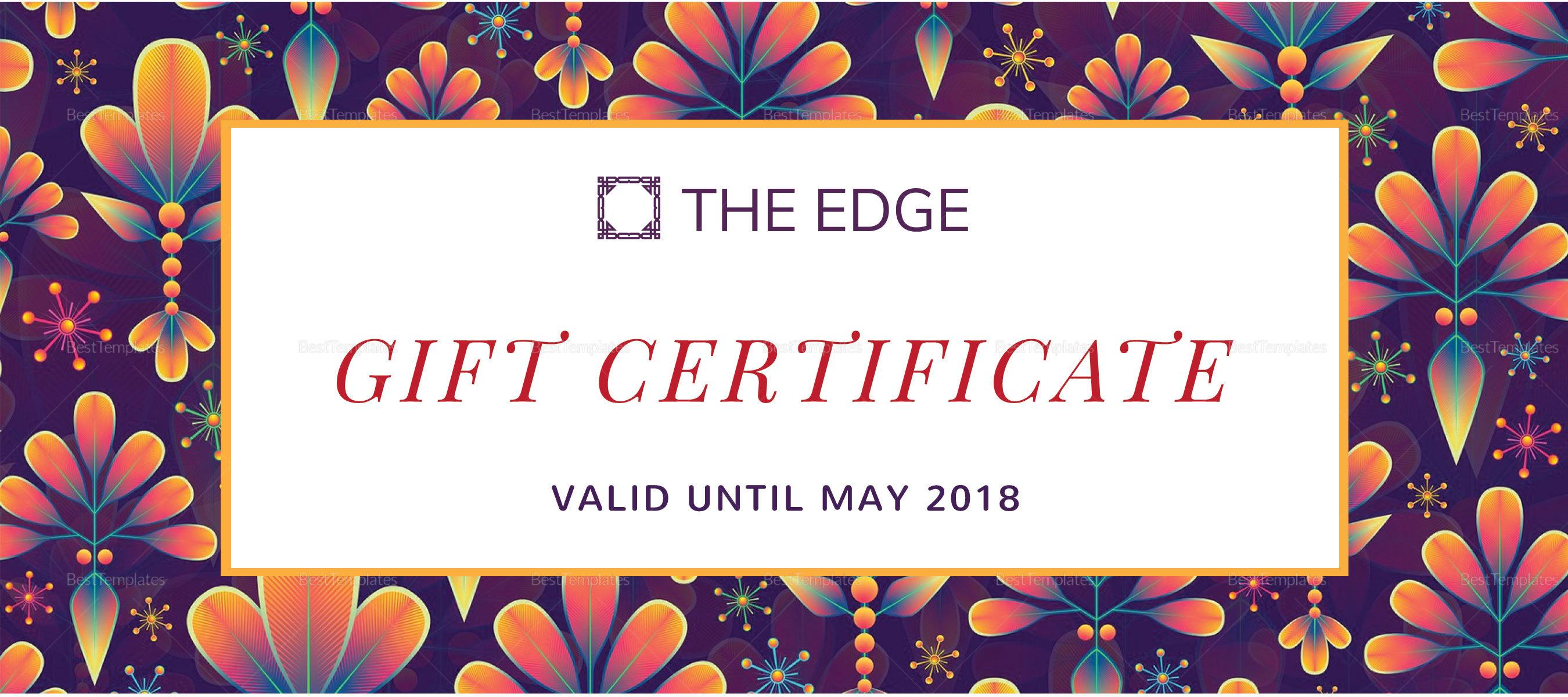 Vacation Gift Certificate Template Mandegarfo