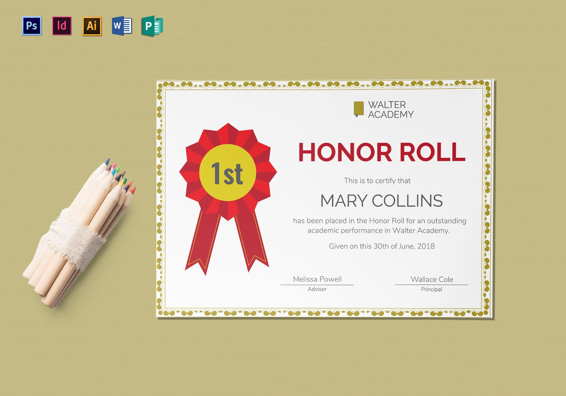 Stunning honor roll template gallery example resume and template honor roll certificate design template in psd word publisher alramifo Choice Image