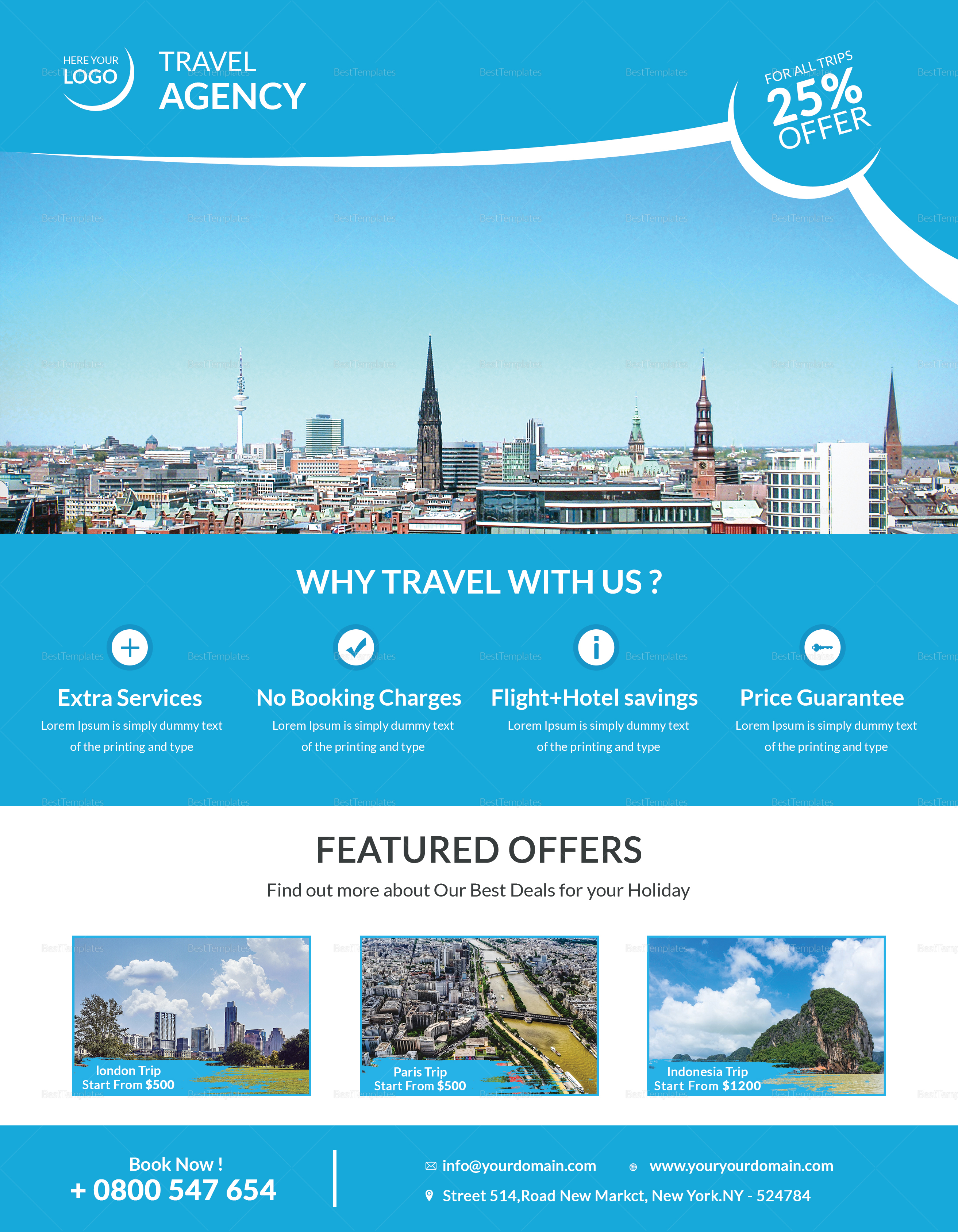 Corporate Travel Flyer Design Template