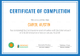 Insurance Completion Certificate Template
