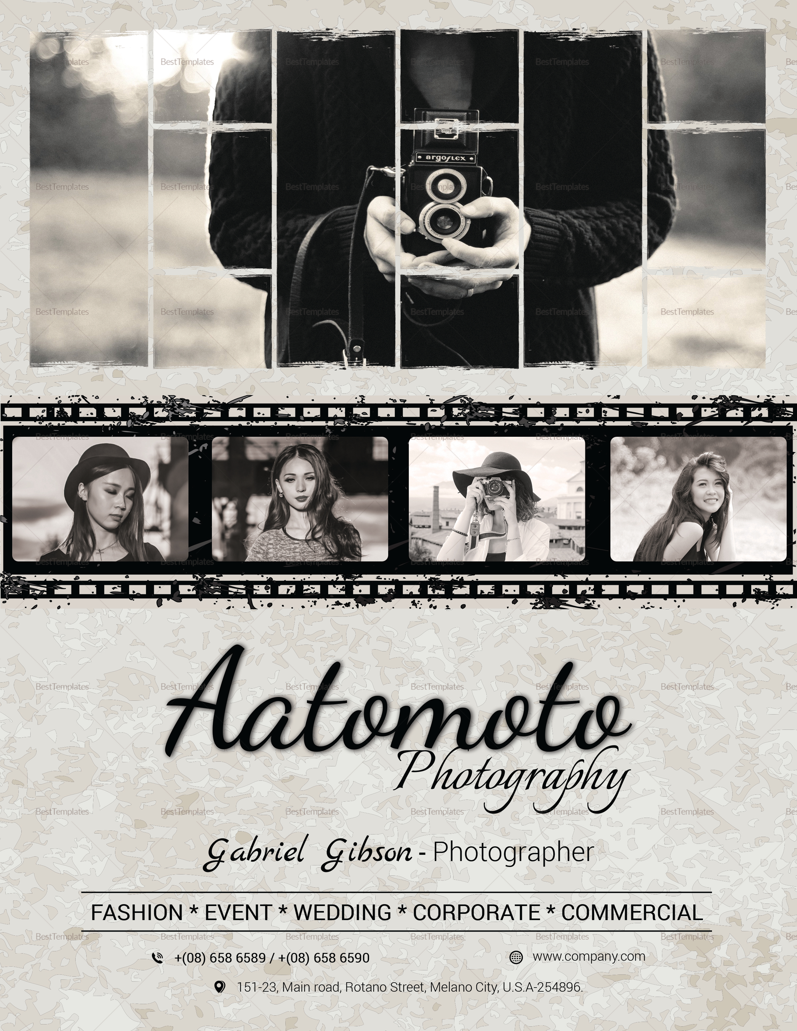 Fashion Photographer Flyer Template to Edit