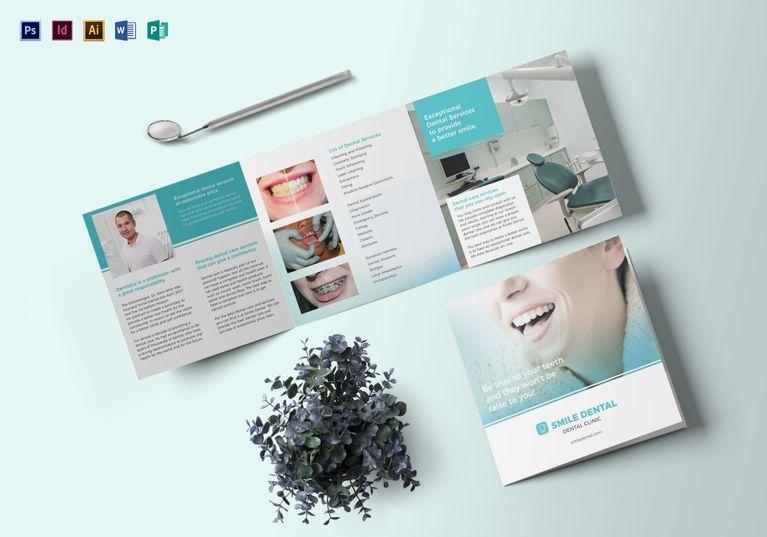 square dentist brochure