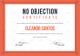 Editable No Objection Certificate for Employee Template
