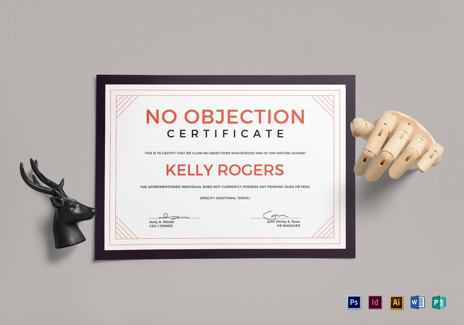 No objection certificate design template in psd word publisher no objection certificate template thecheapjerseys Choice Image
