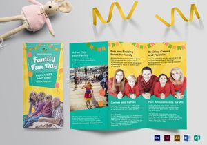 Event Brochure Designs Templates In Word PSD Publisher - Fun brochure templates