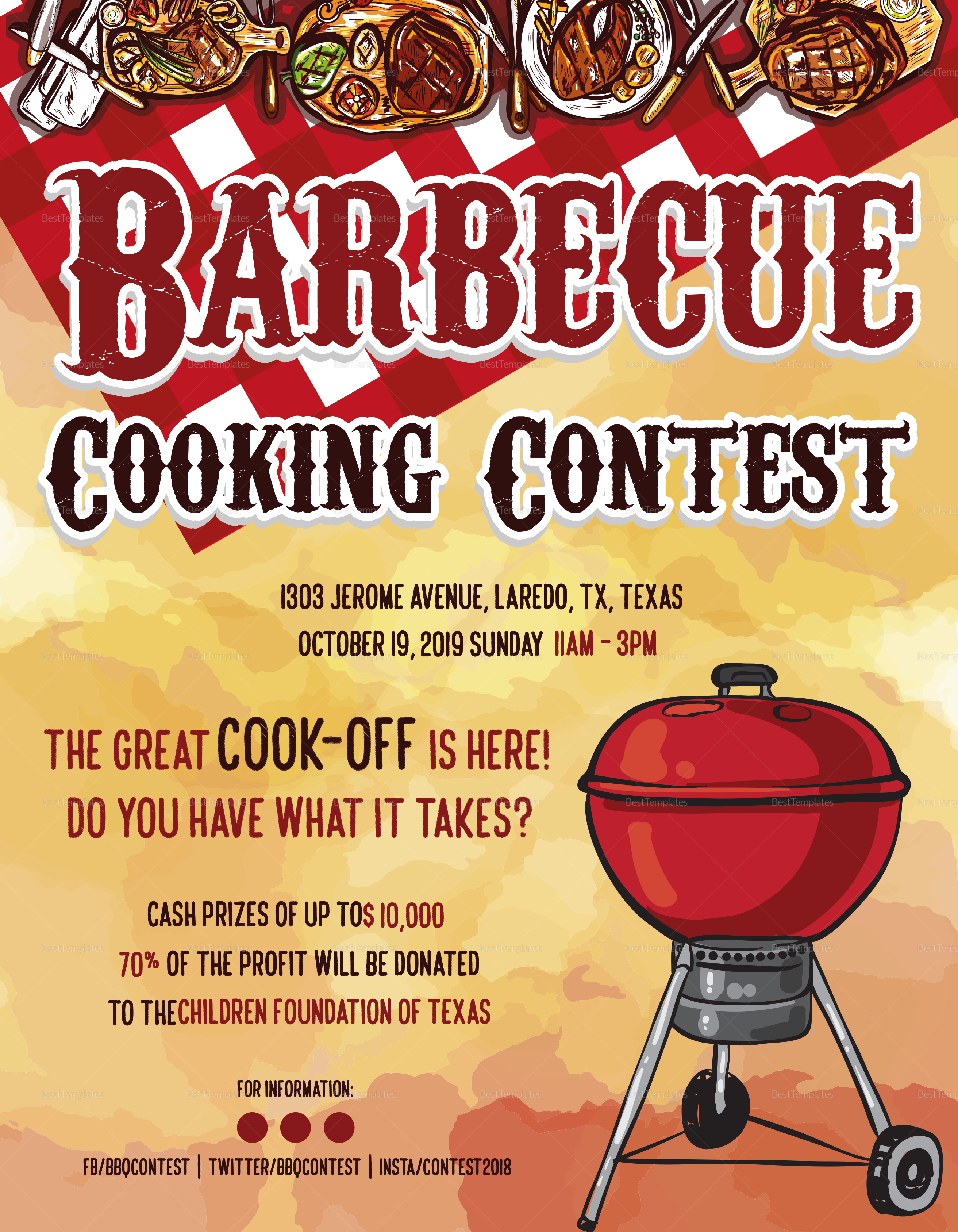 BBQ Cooking Flyer Template