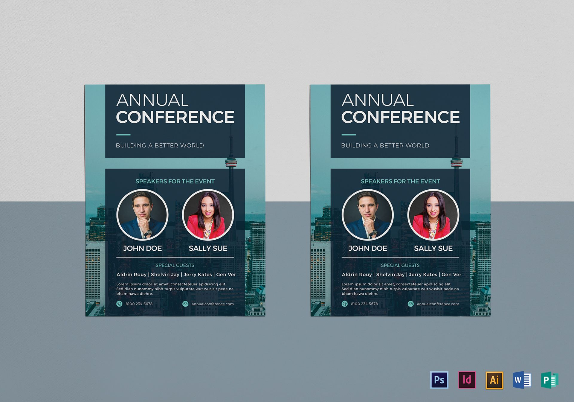 Annual Conference Flyer Design Template in PSD, Word, Publisher ...