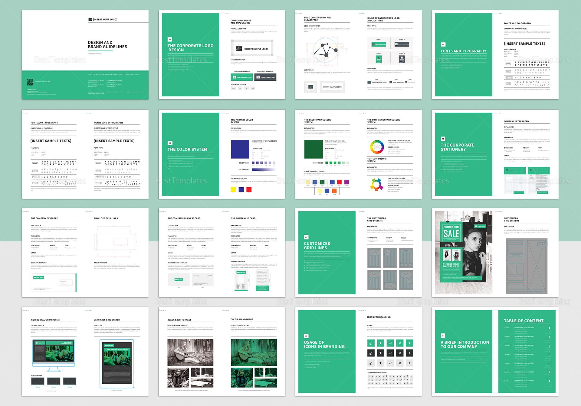 Brand Manual Catalog Template