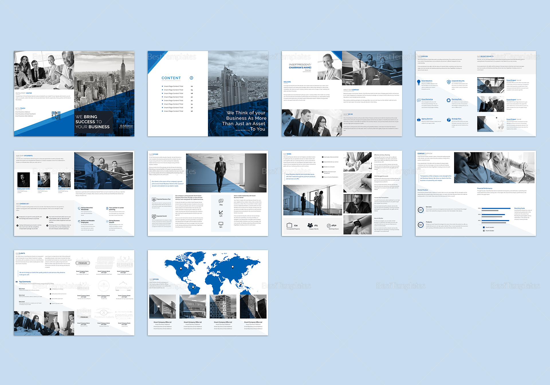 Business catalog template in psd word publisher for Microsoft publisher catalog templates