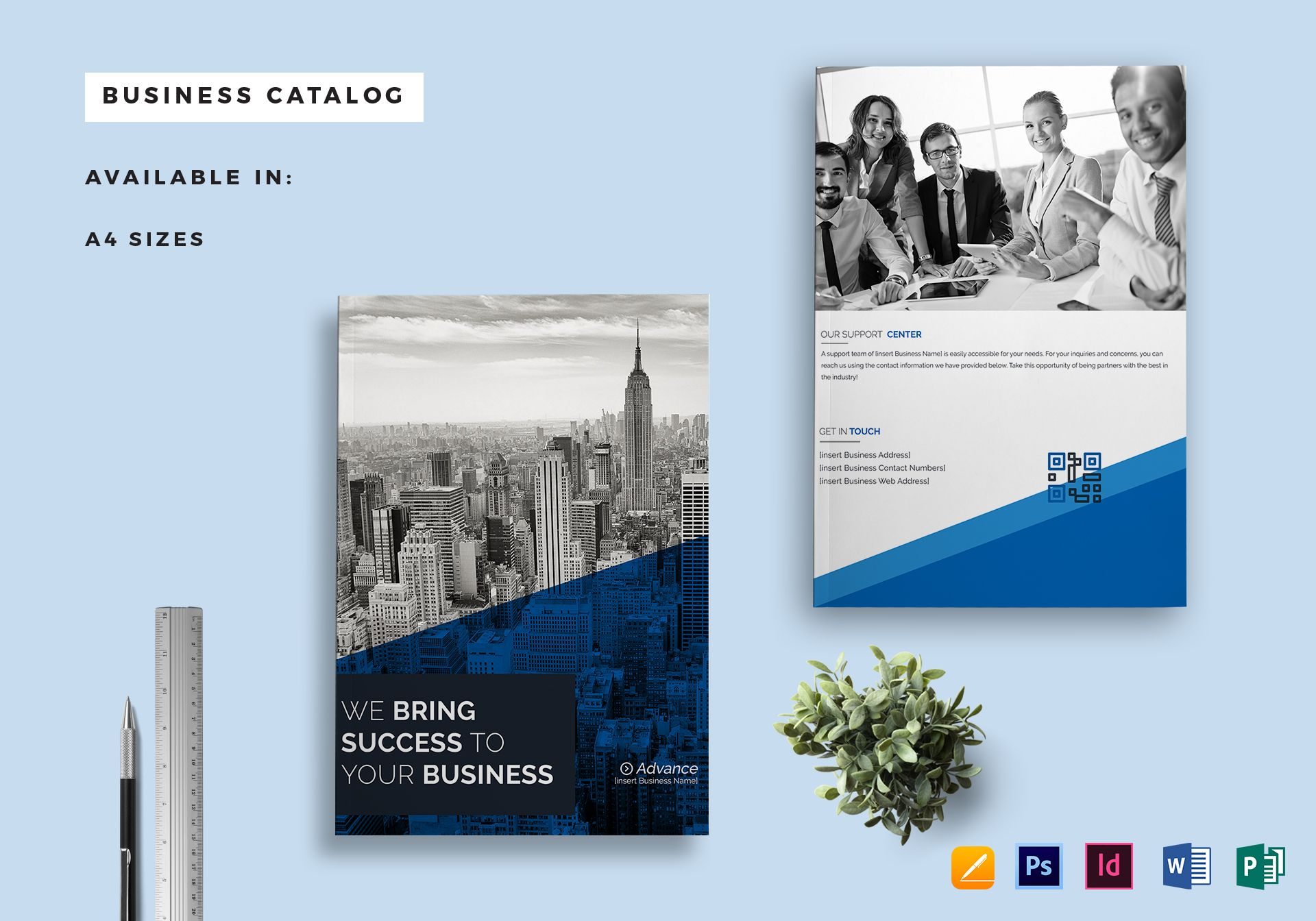 Business catalog template in psd word publisher indesign apple pages business catalog template accmission Gallery