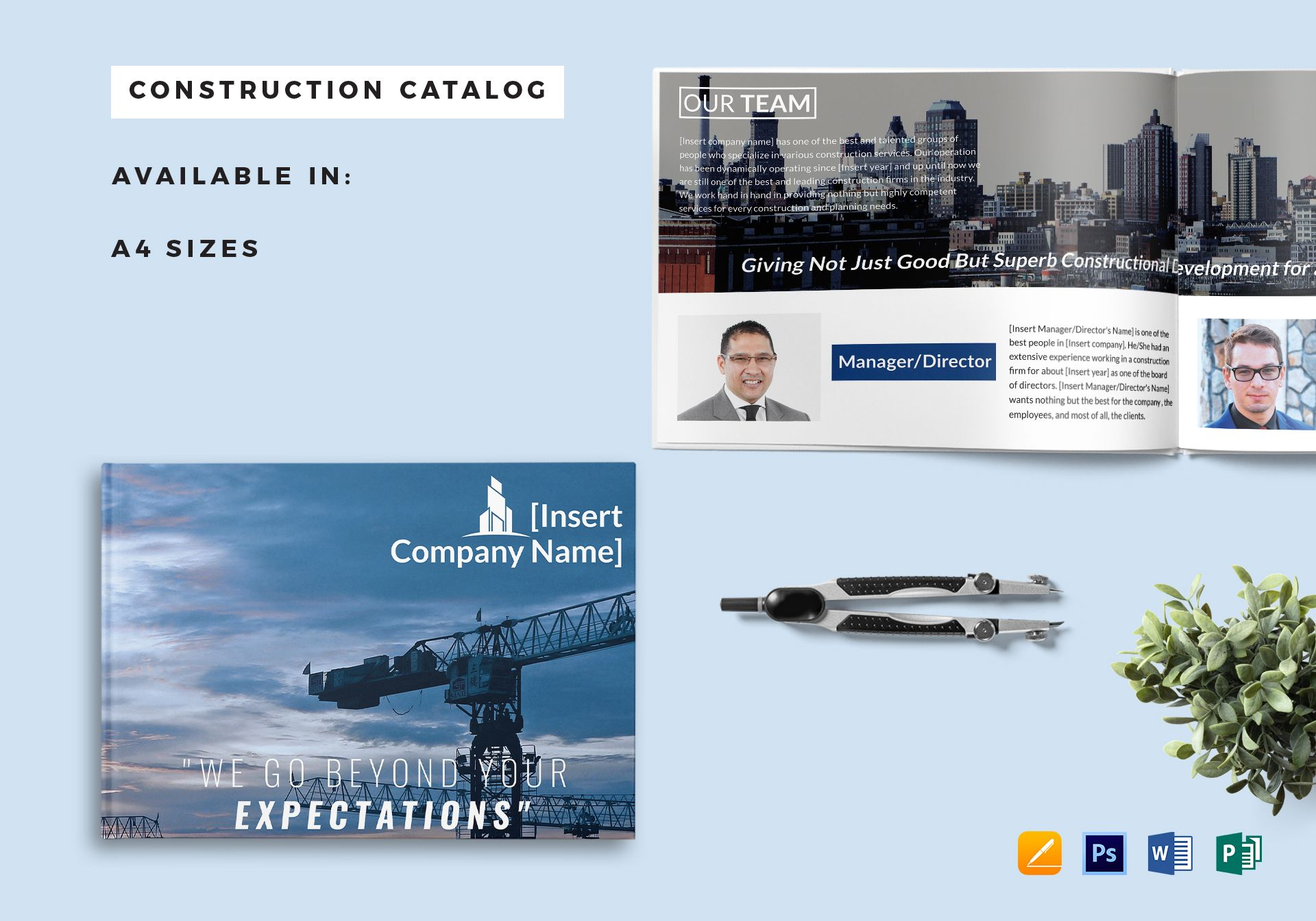 Construction Company Catalog Template