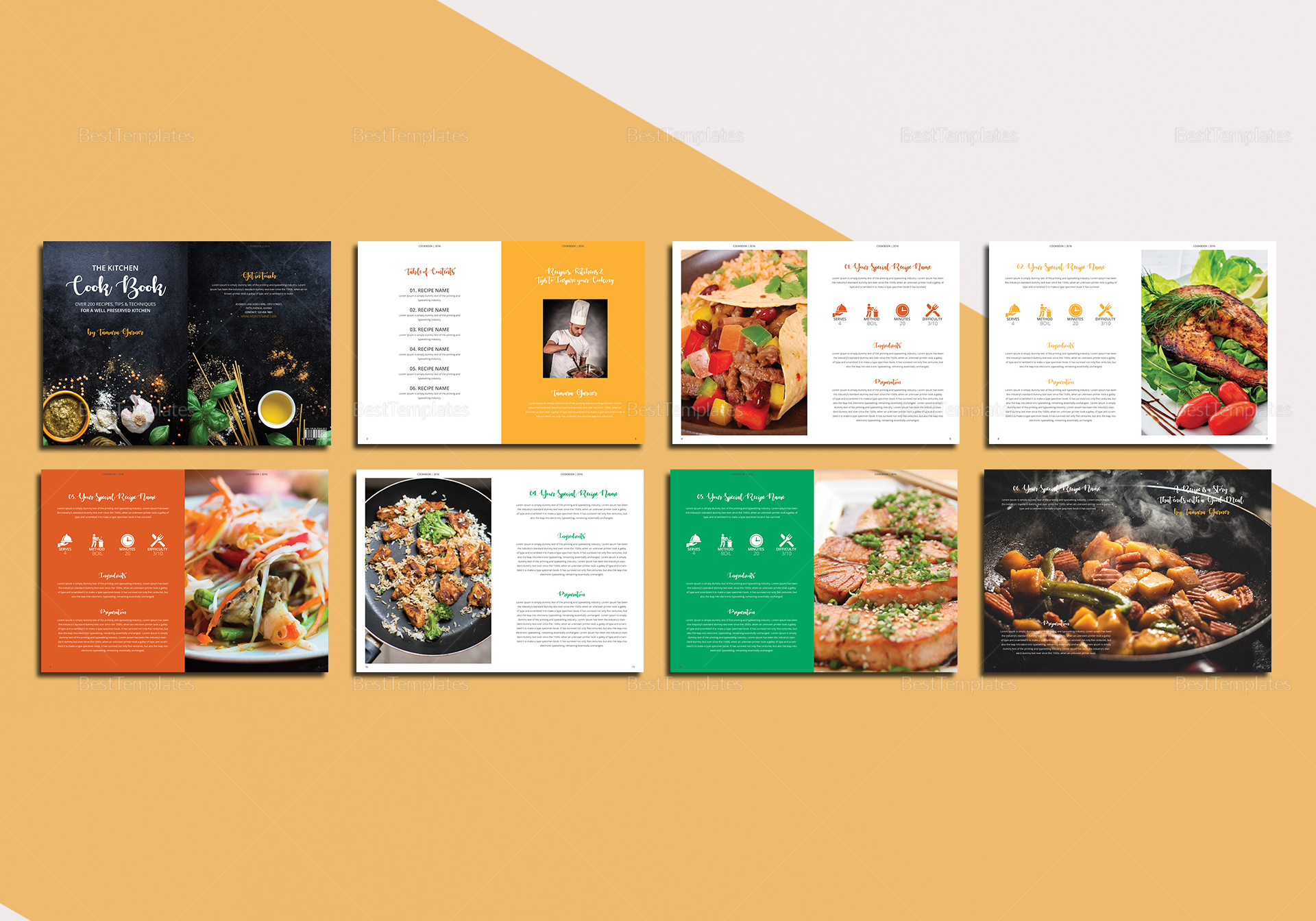 Simple Cookbook Catalog Template