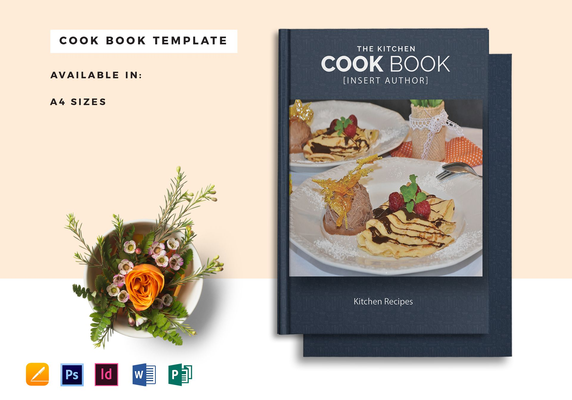 Printable cookbook catalog template in psd word for Cookbook template mac