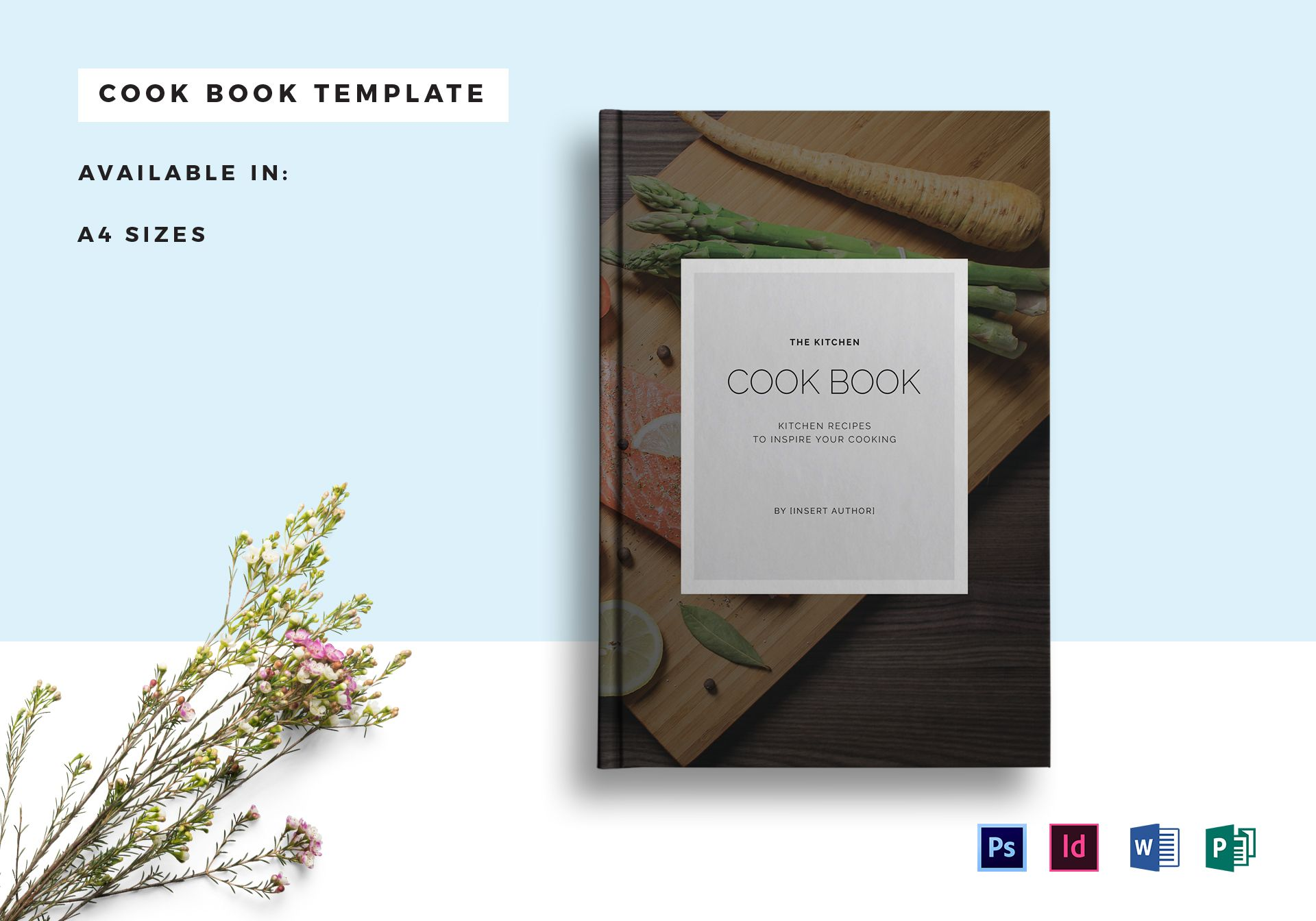 recipe cookbook catalog template in psd word publisher indesign