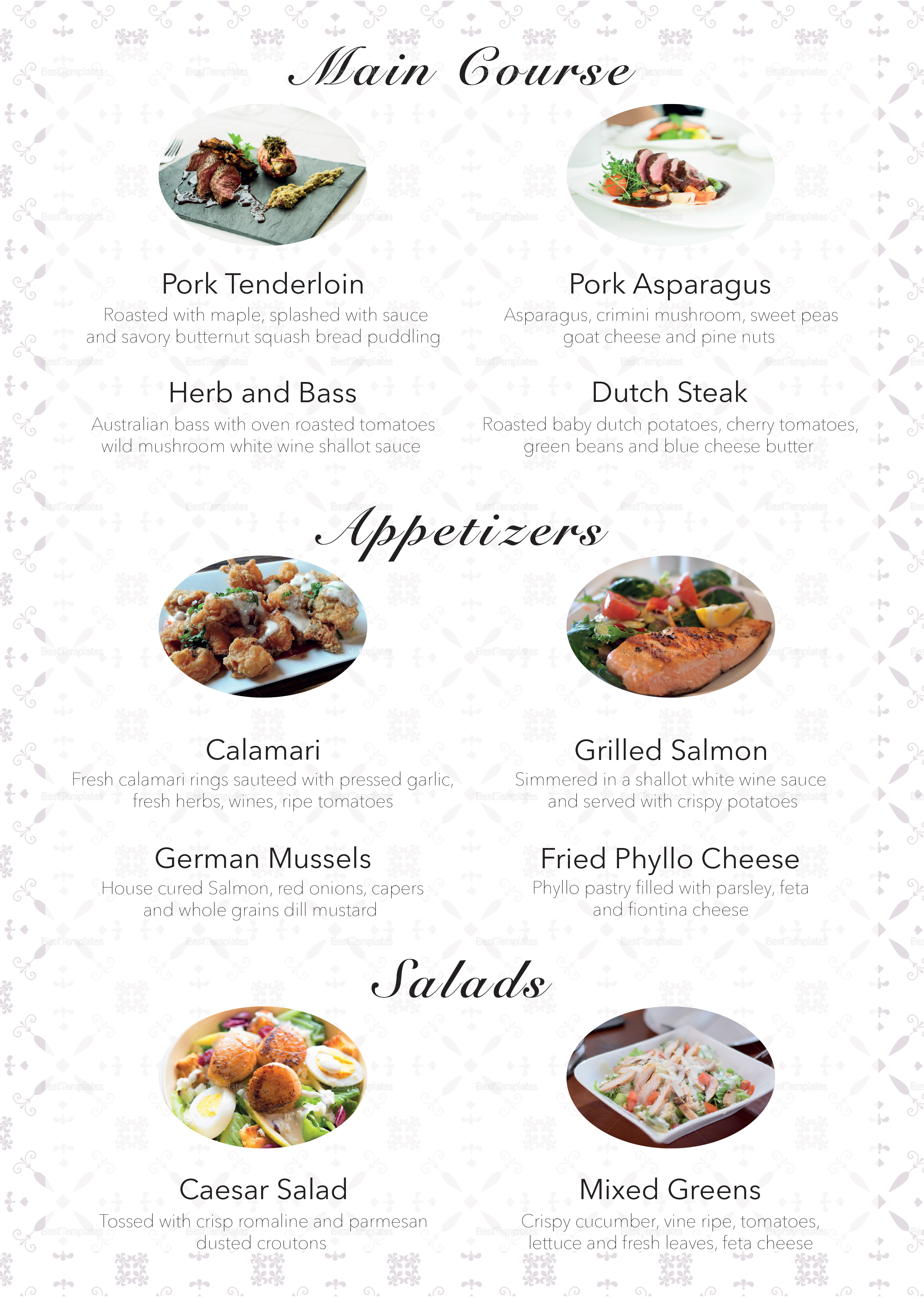 how to create a restaurant menu in indesign