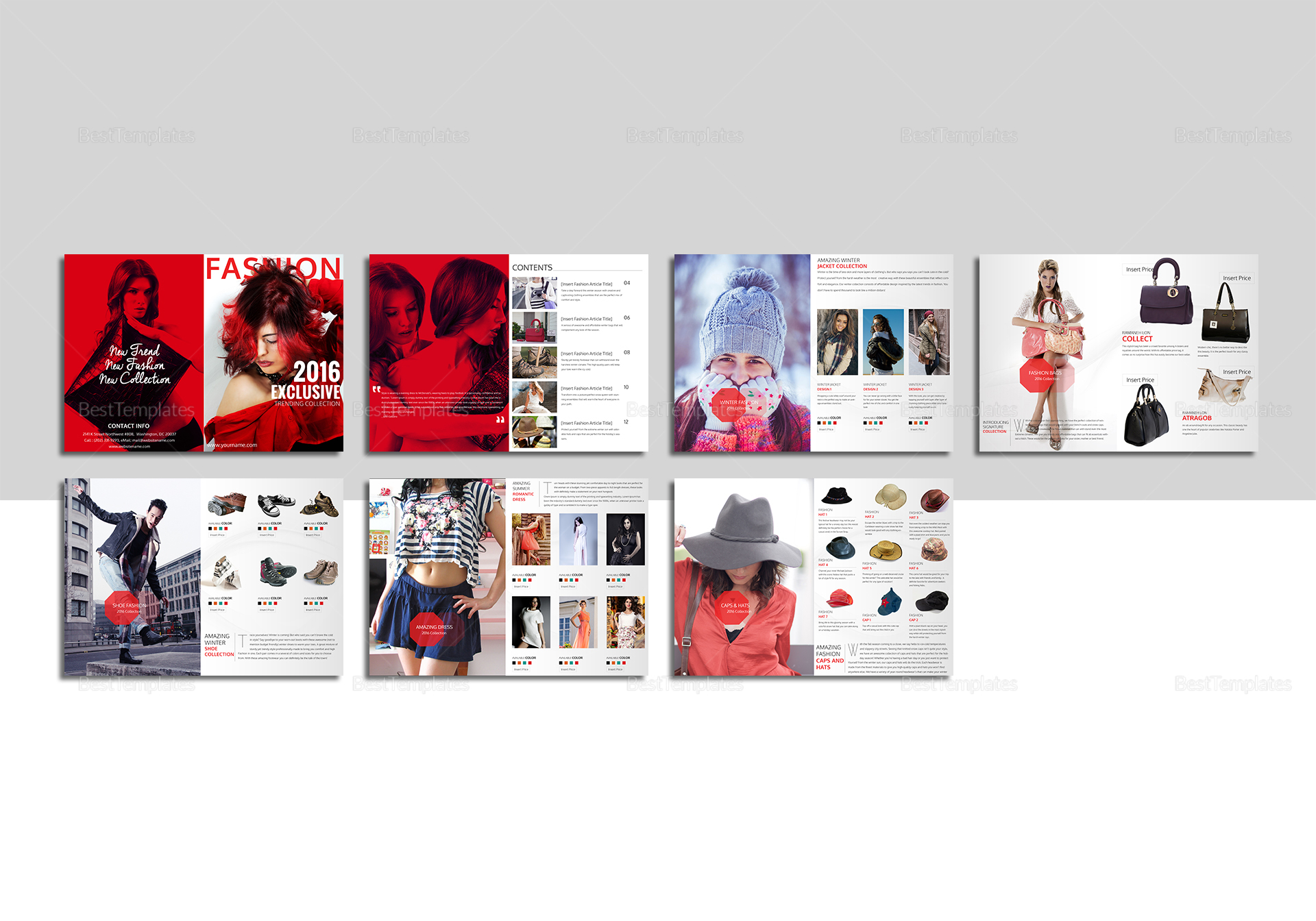 Fashion catalog template in psd word publisher indesign for Microsoft word catalog template
