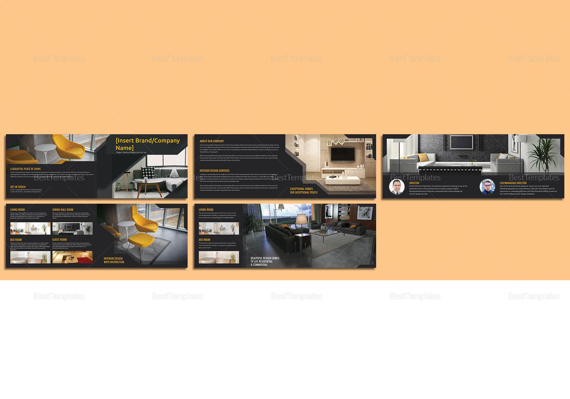 Sample Interior Catalog Template