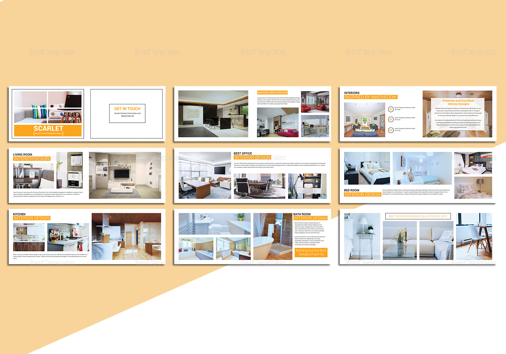Sample Home Interior Catalog Template