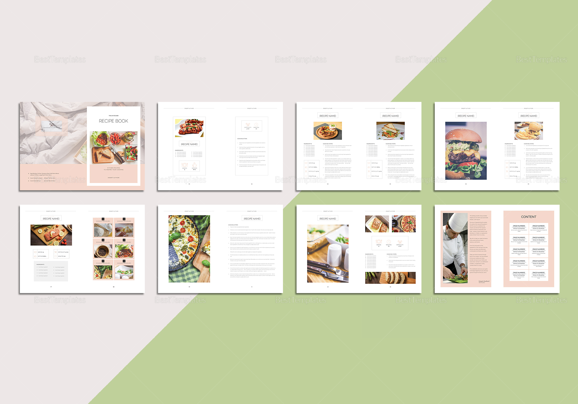Sample Recipe Book Cover Template