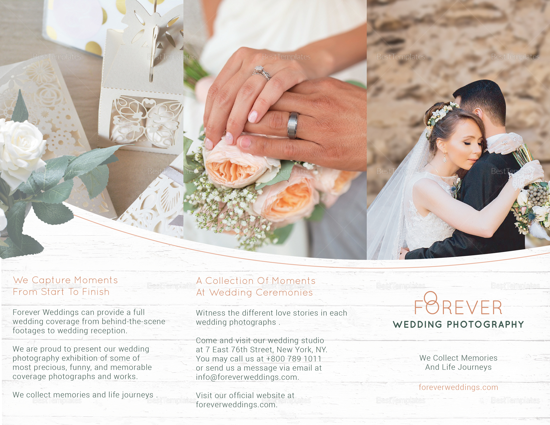 Tri-fold Wedding Brochure Template