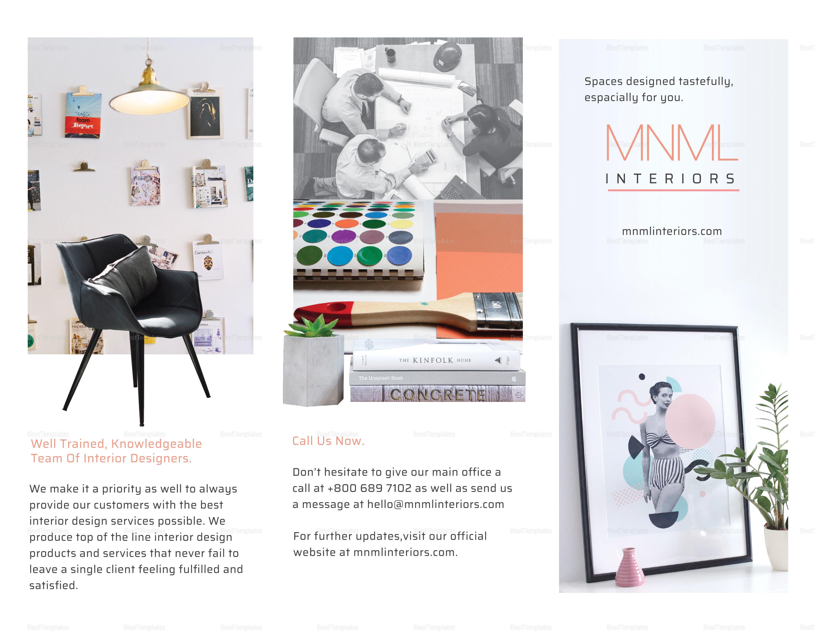Sample Minimal Interior Brochure