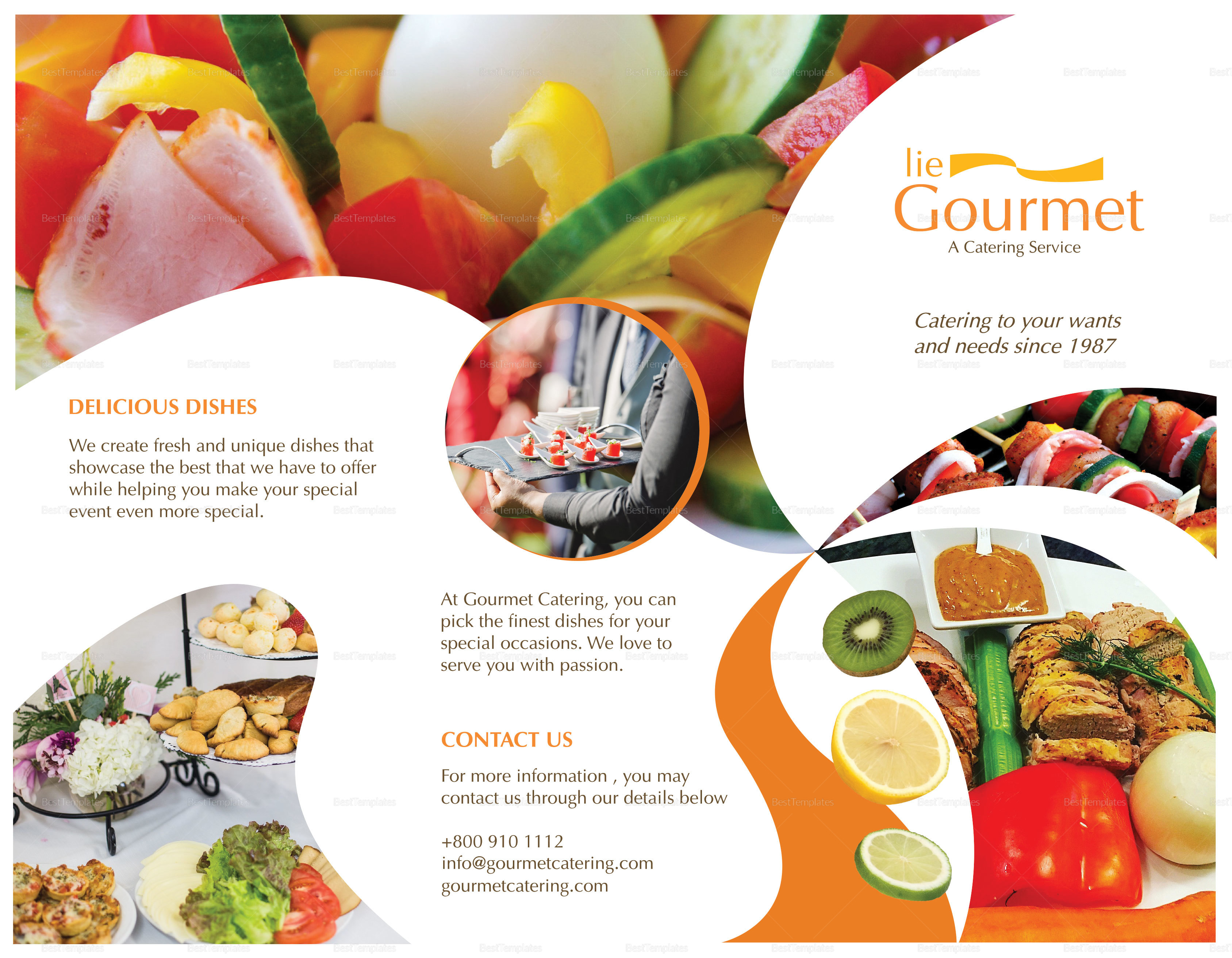 Editable Catering Brochure Template