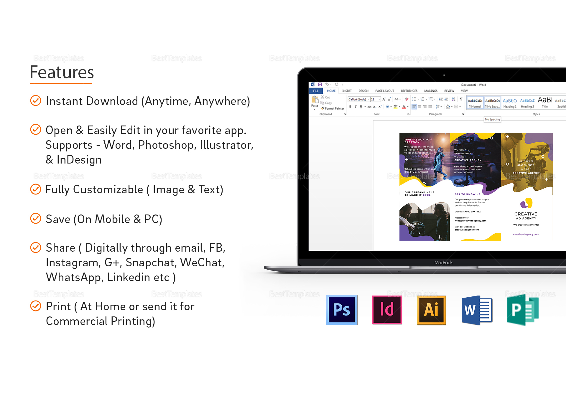 Agency Brochure Template to Edit