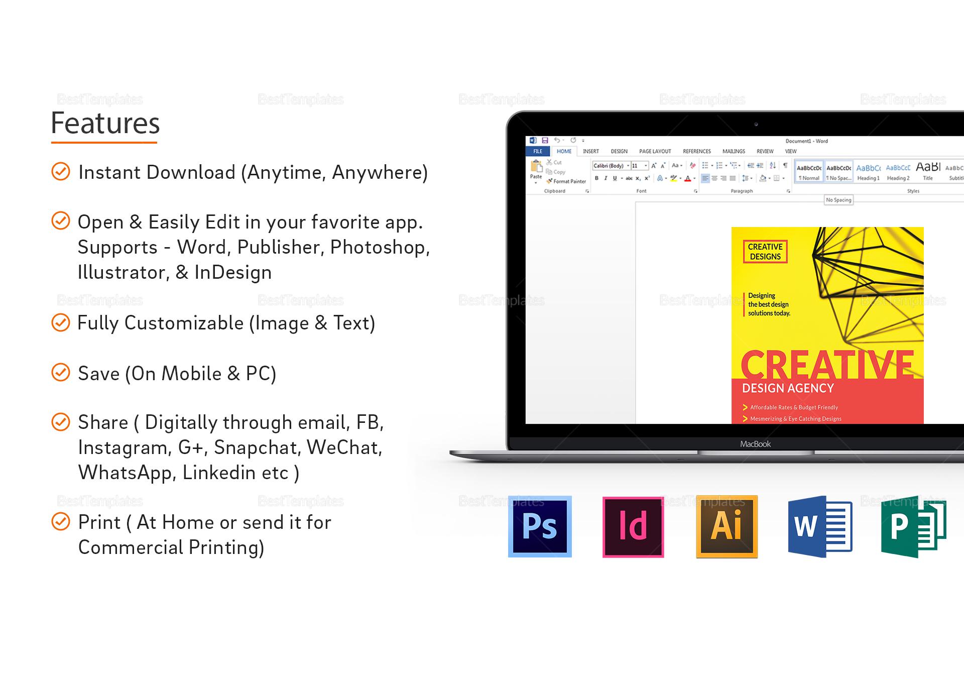 Creative Design Agency Flyer