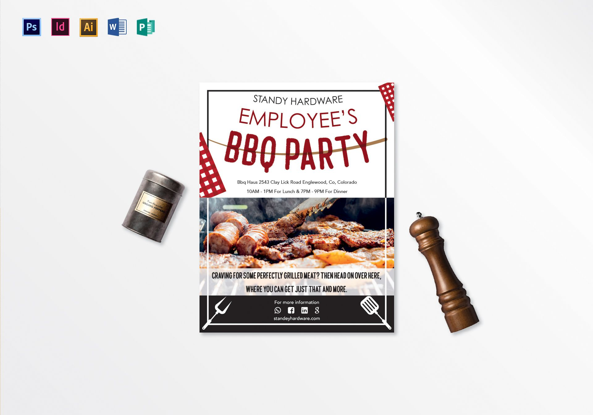 Employee's Barbeque Party Flyer Template