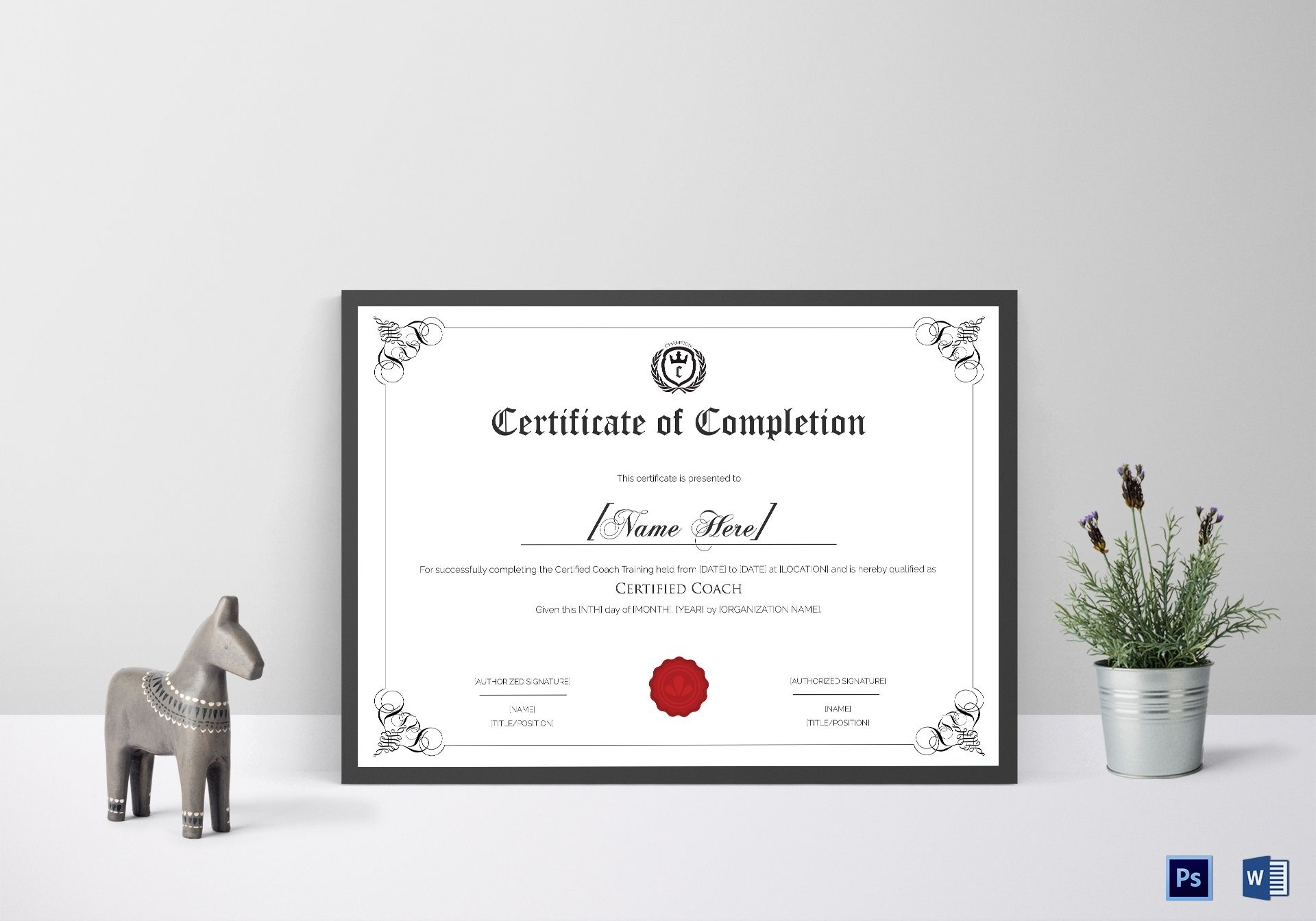 Sports coaching certificate design template in psd word sports coaching certificate template xflitez Choice Image
