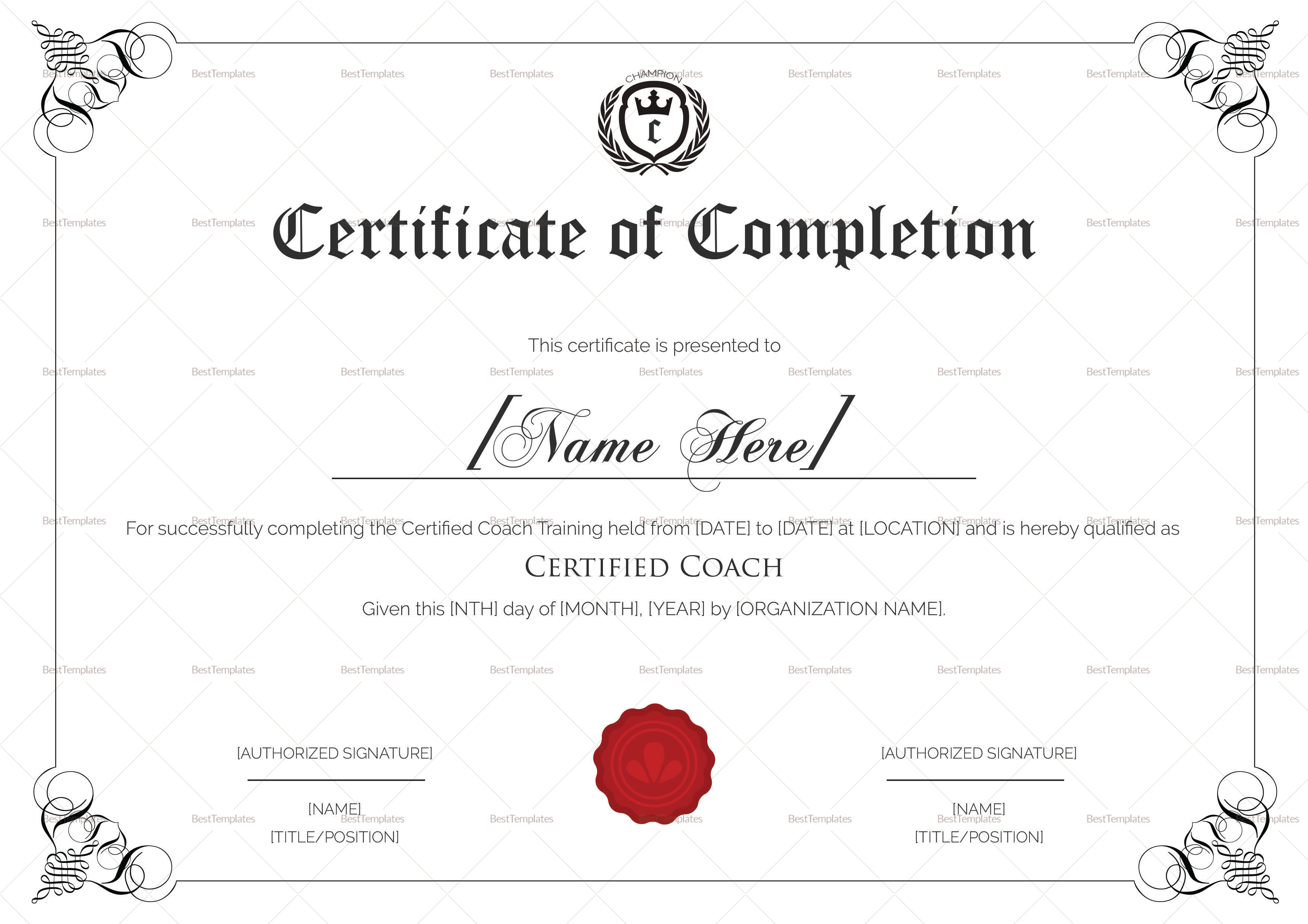 Sports coaching certificate design template in psd word sports coaching certificate template sports coaching certificate template xflitez Choice Image