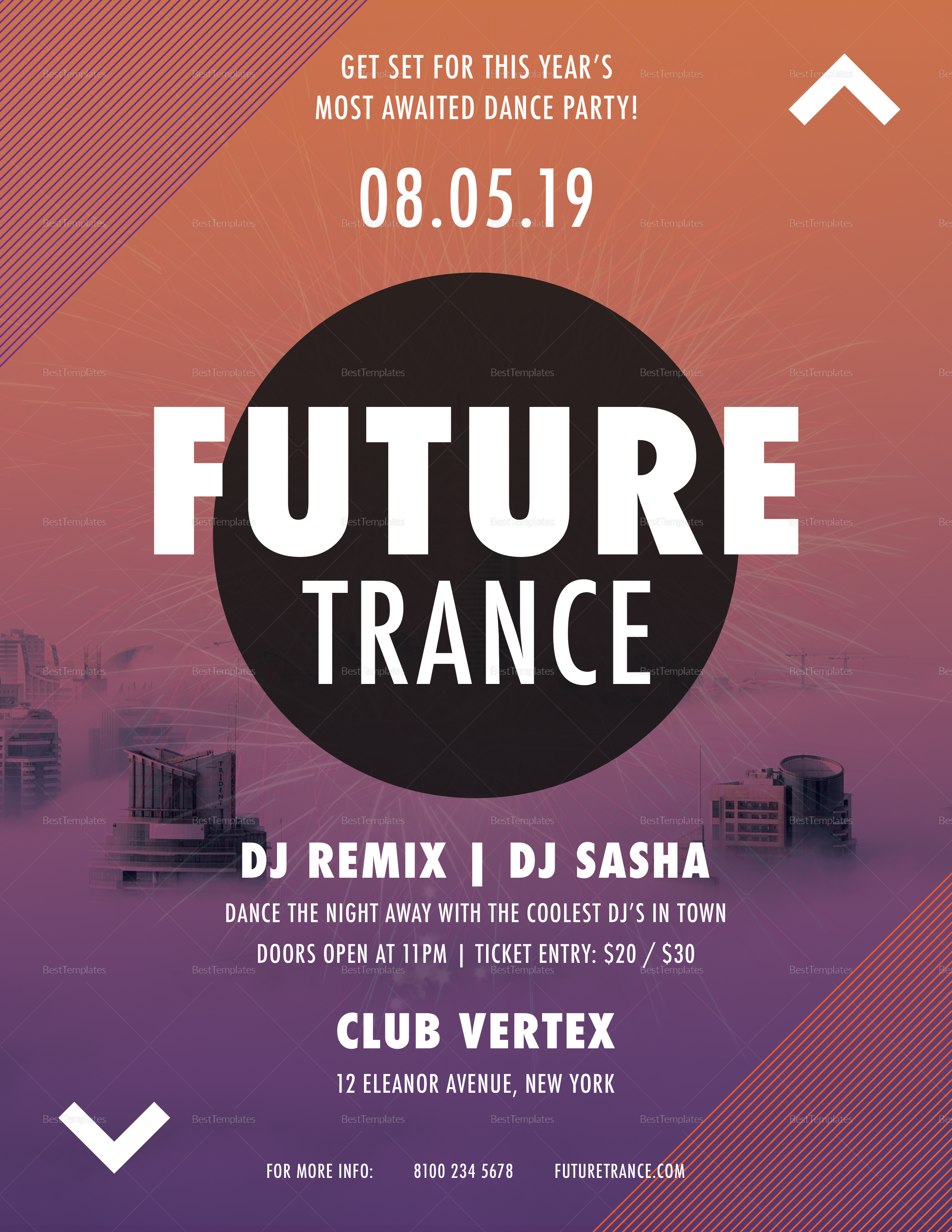 Future Trance Flyer Template