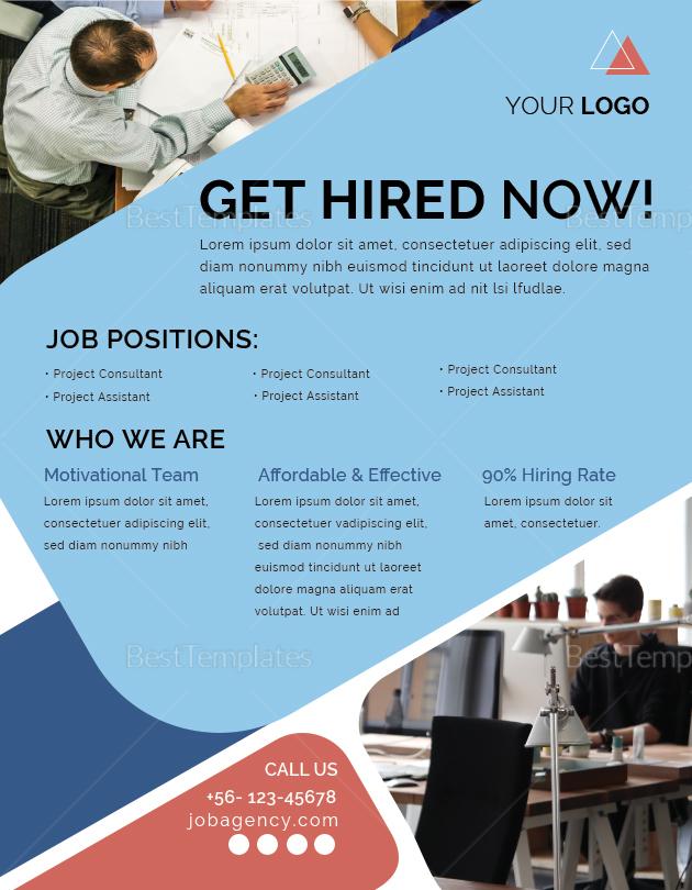 Job Agency Flyer Template