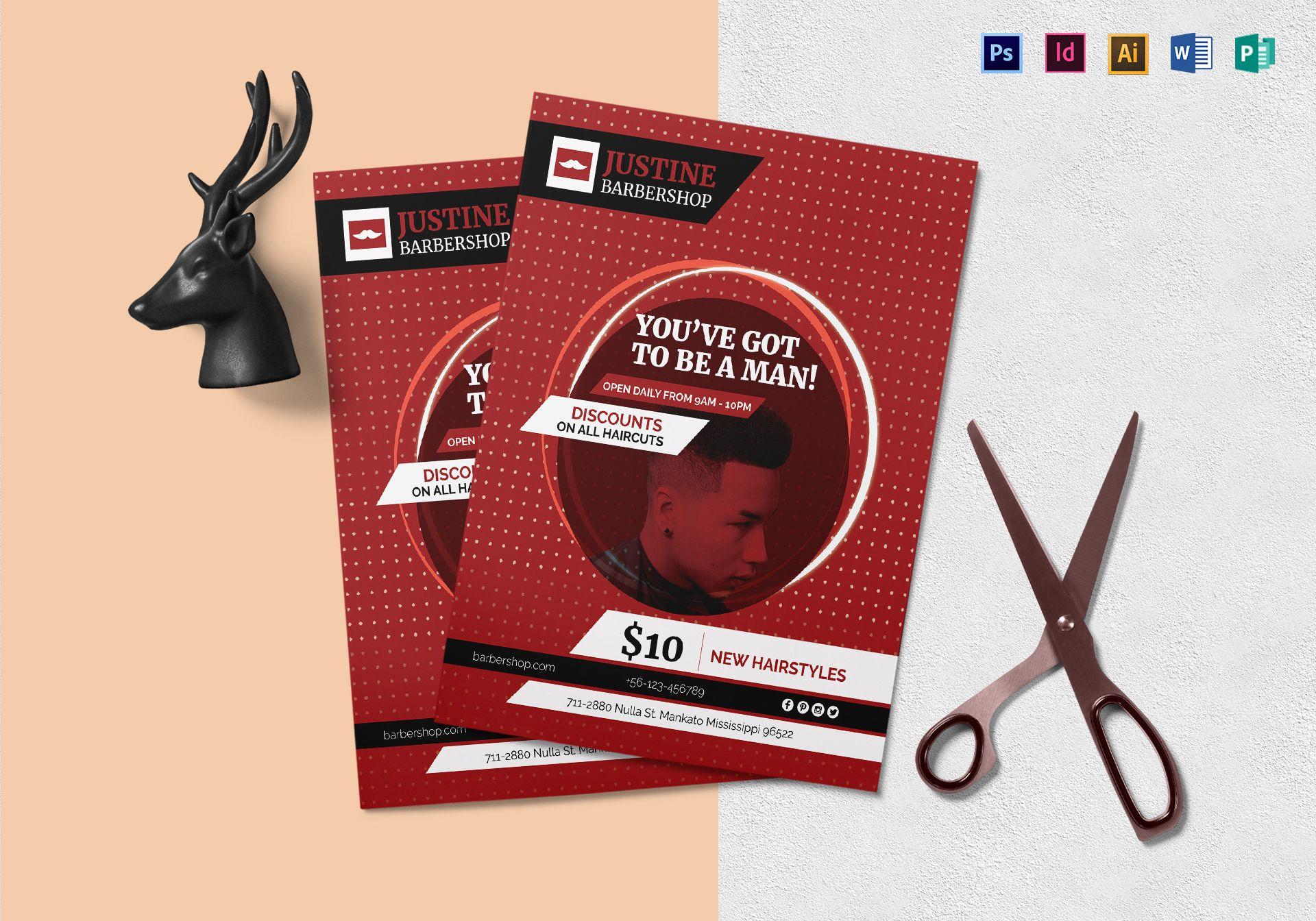 Modern Barbershop Flyer Template