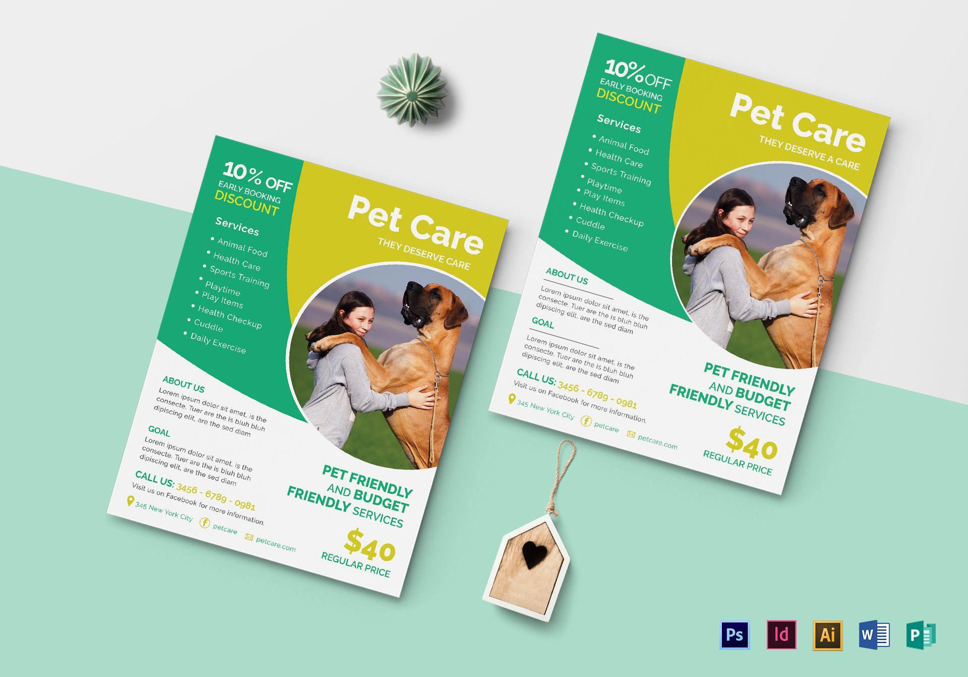 Pet Care Services Flyer Template