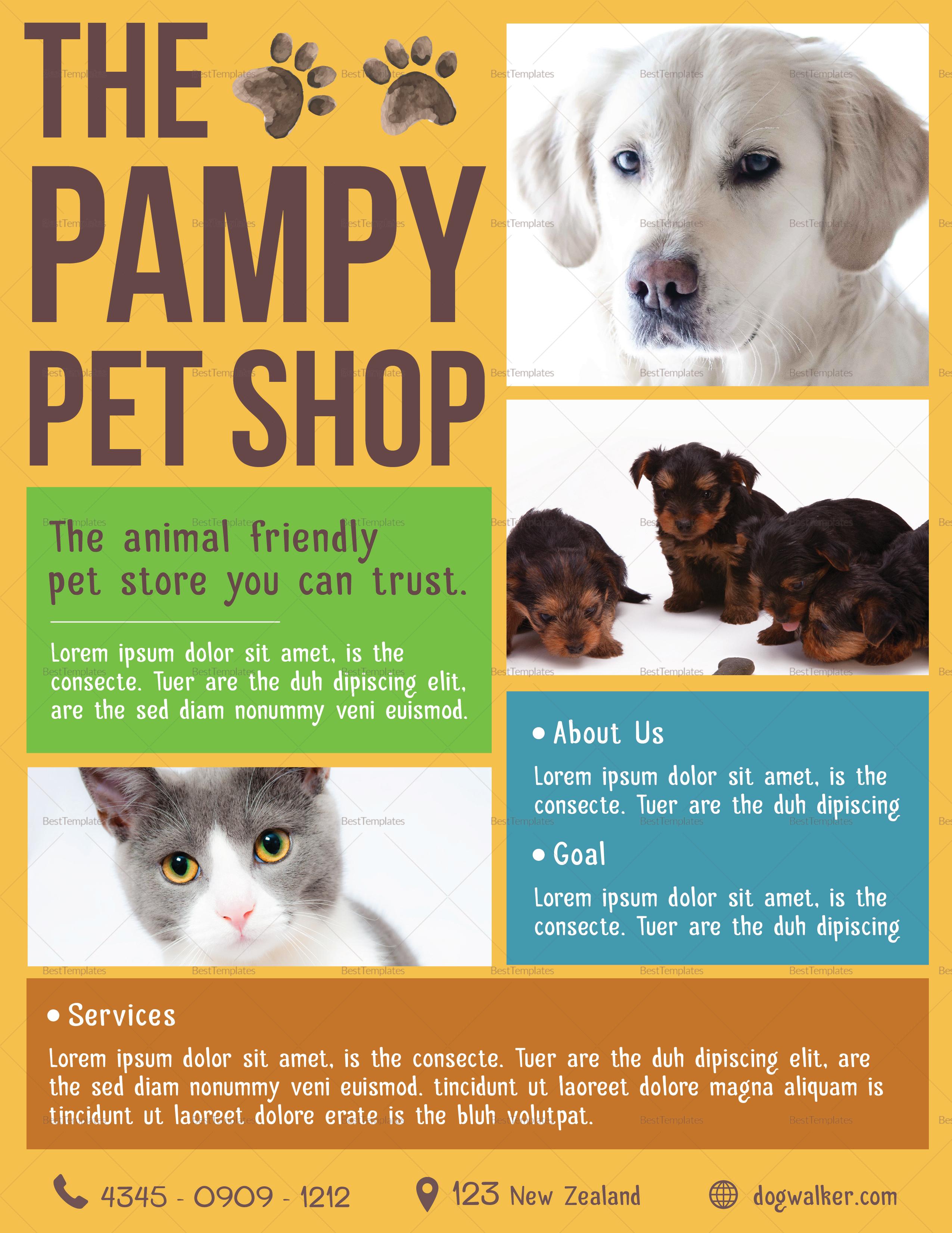 Sample Pet Shop Flyer