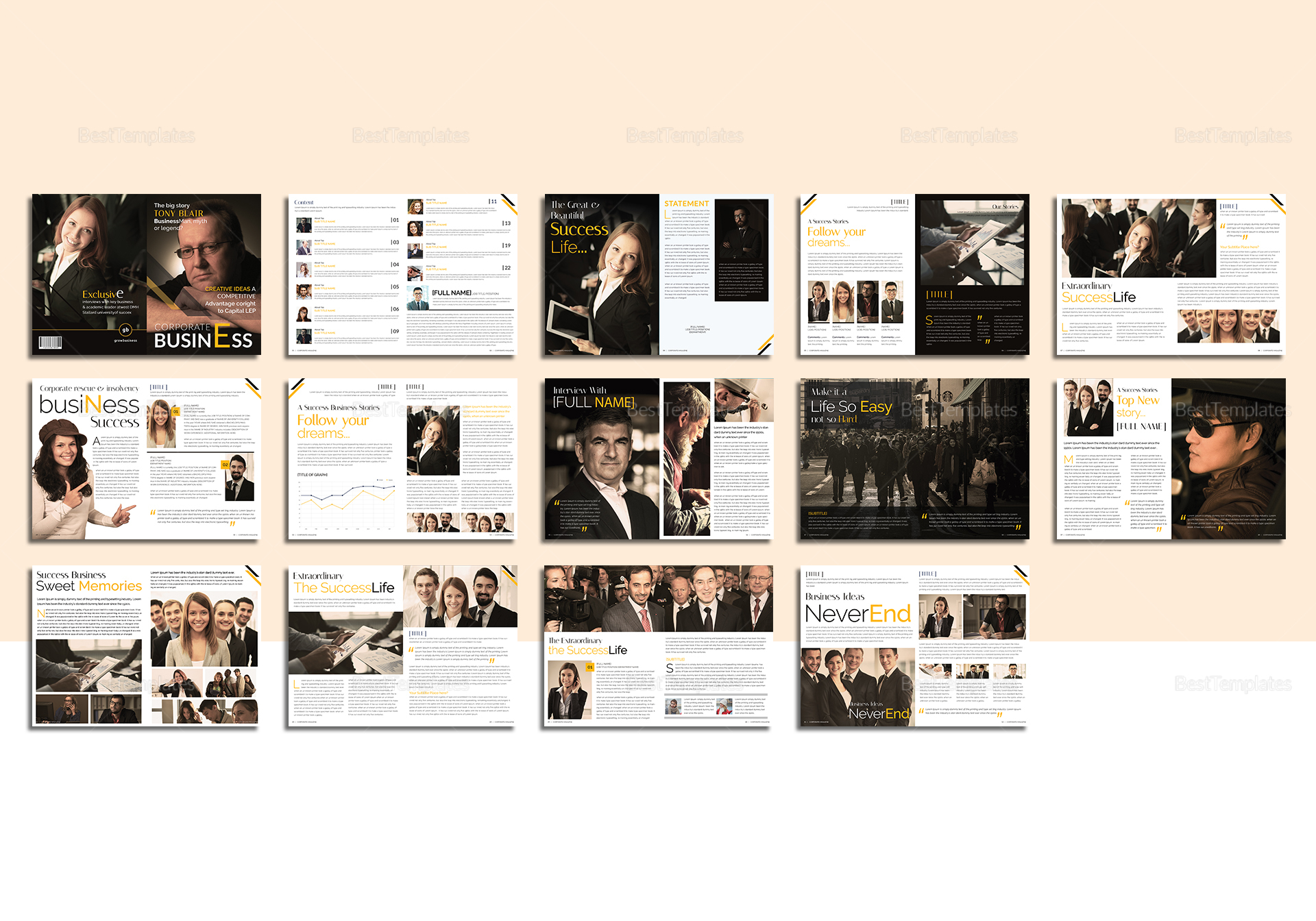 Corporate business magazine template in psd word publisher indesign corporate business magazine template corporate business magazine flashek Choice Image
