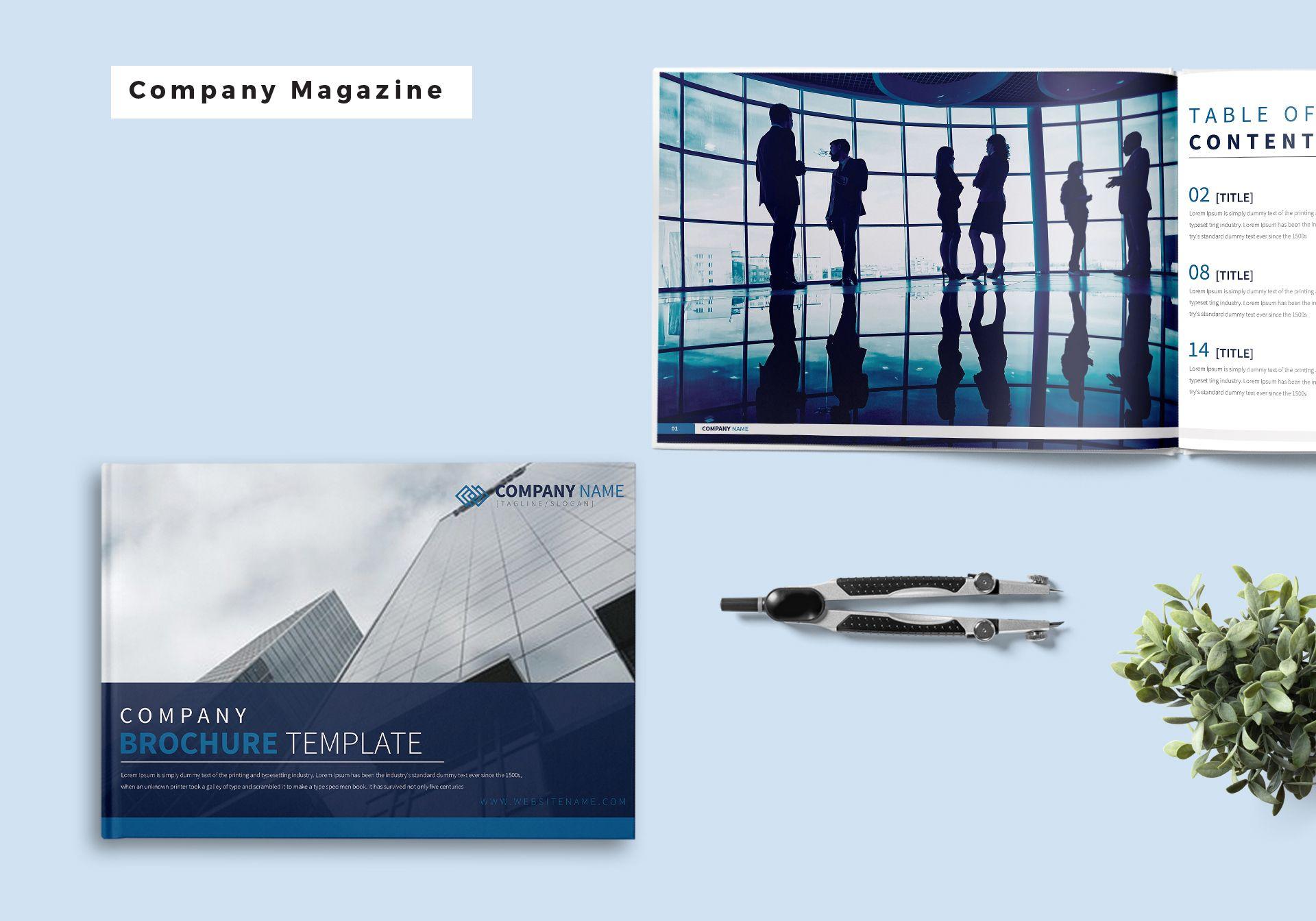 Company Magazine Template