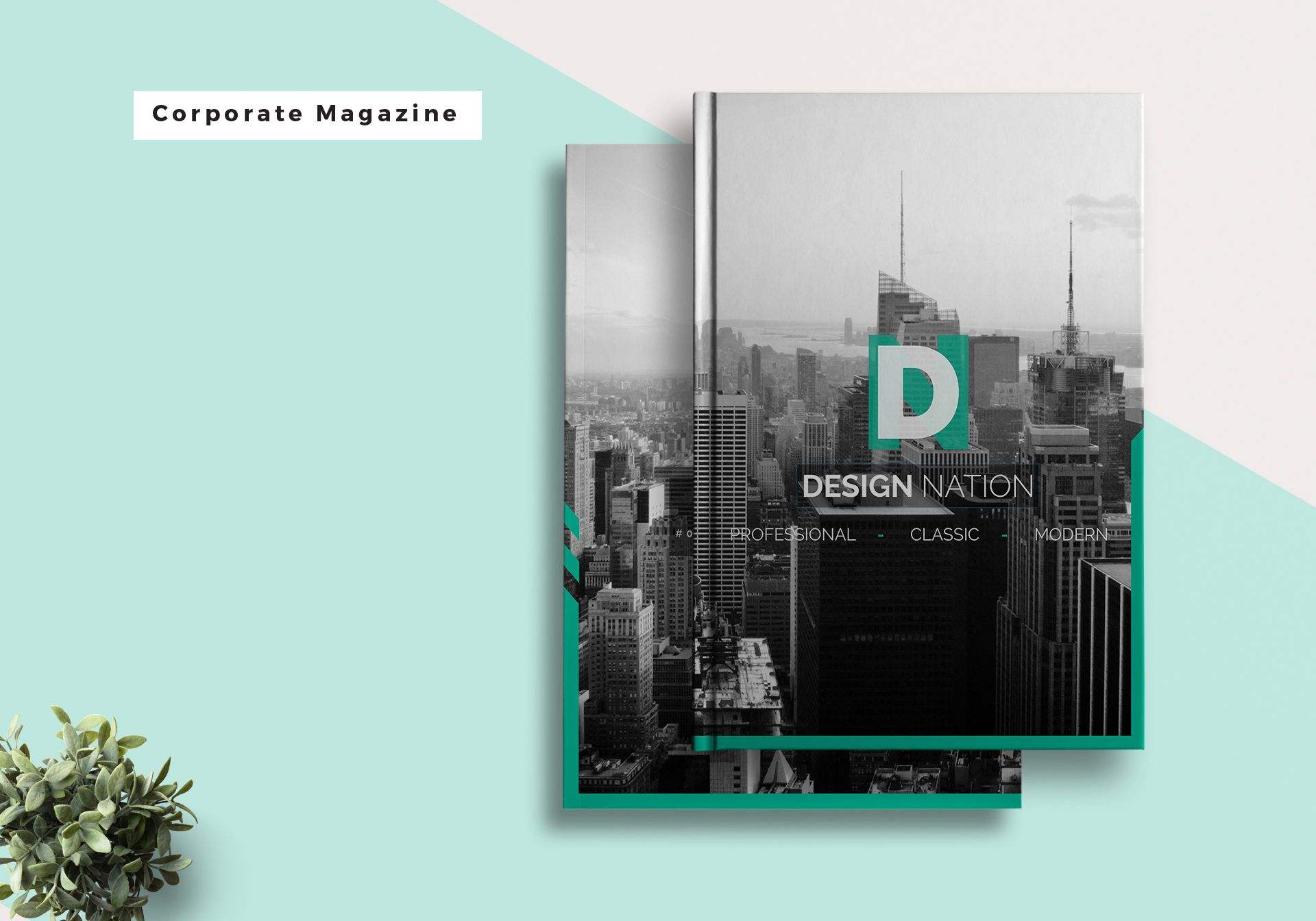 corporate magazine template in psd word publisher indesign