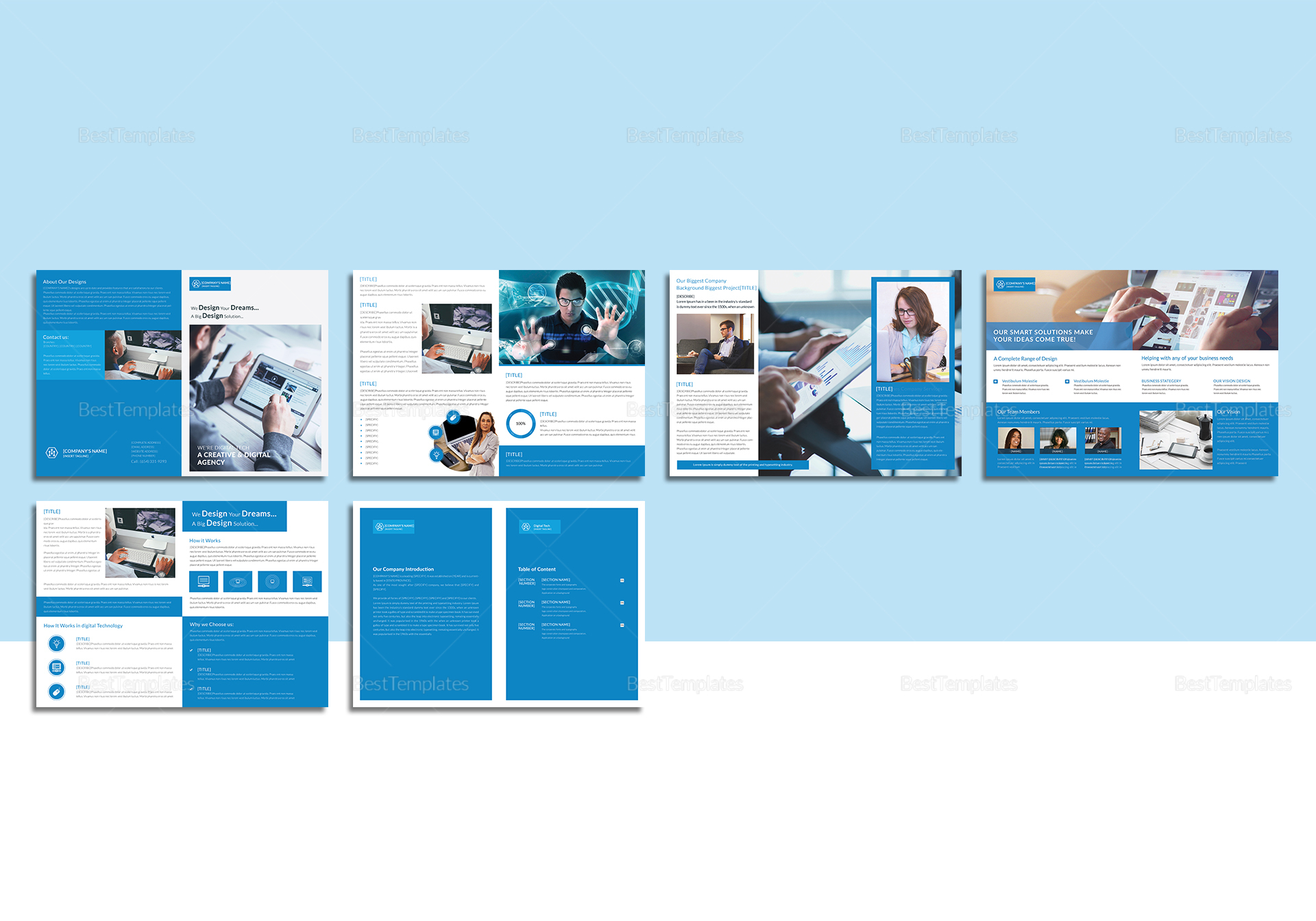 Sample Digital Magazine Template